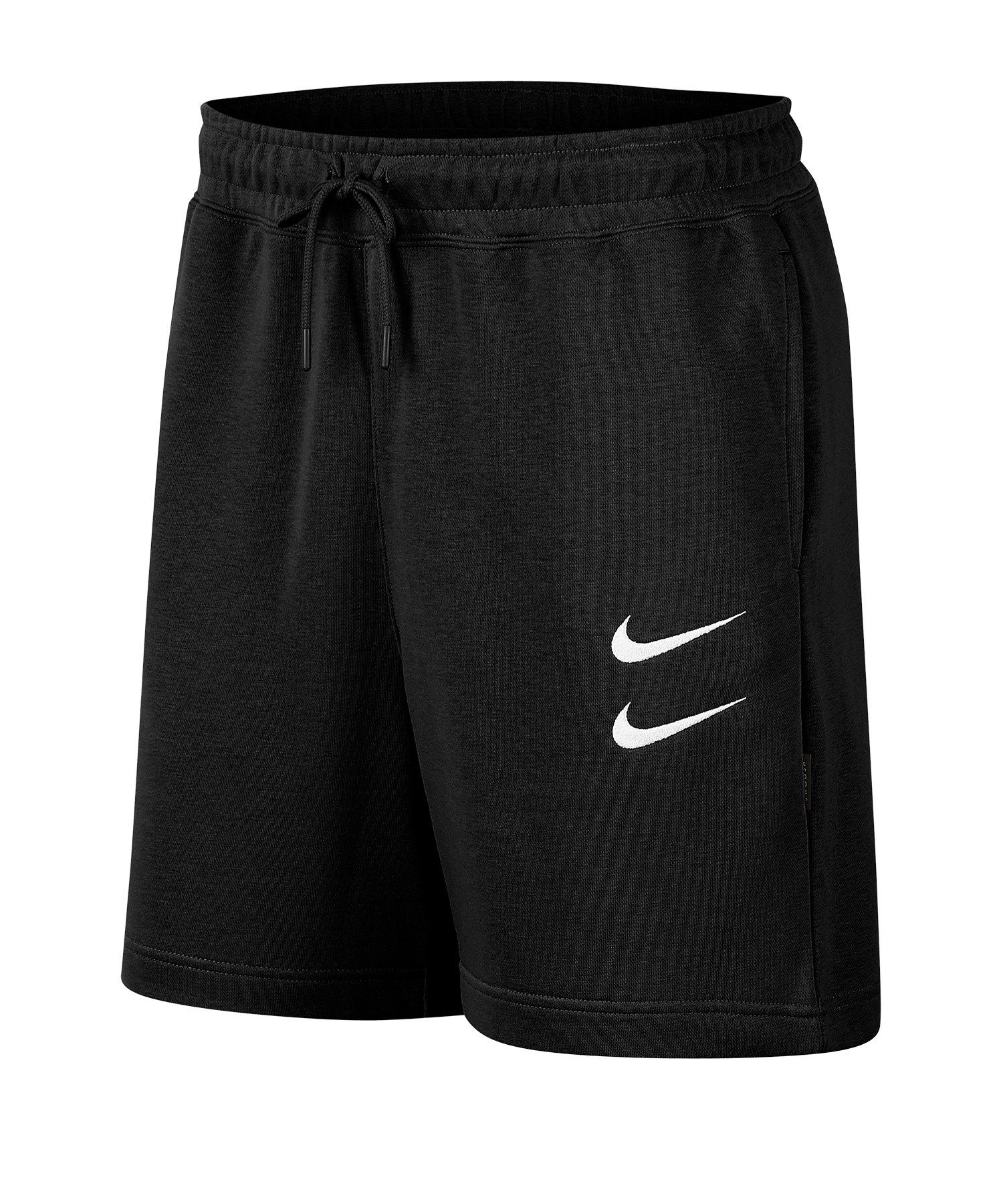 Nike Swoosh French Terry Shorts Schwarz F010 - schwarz