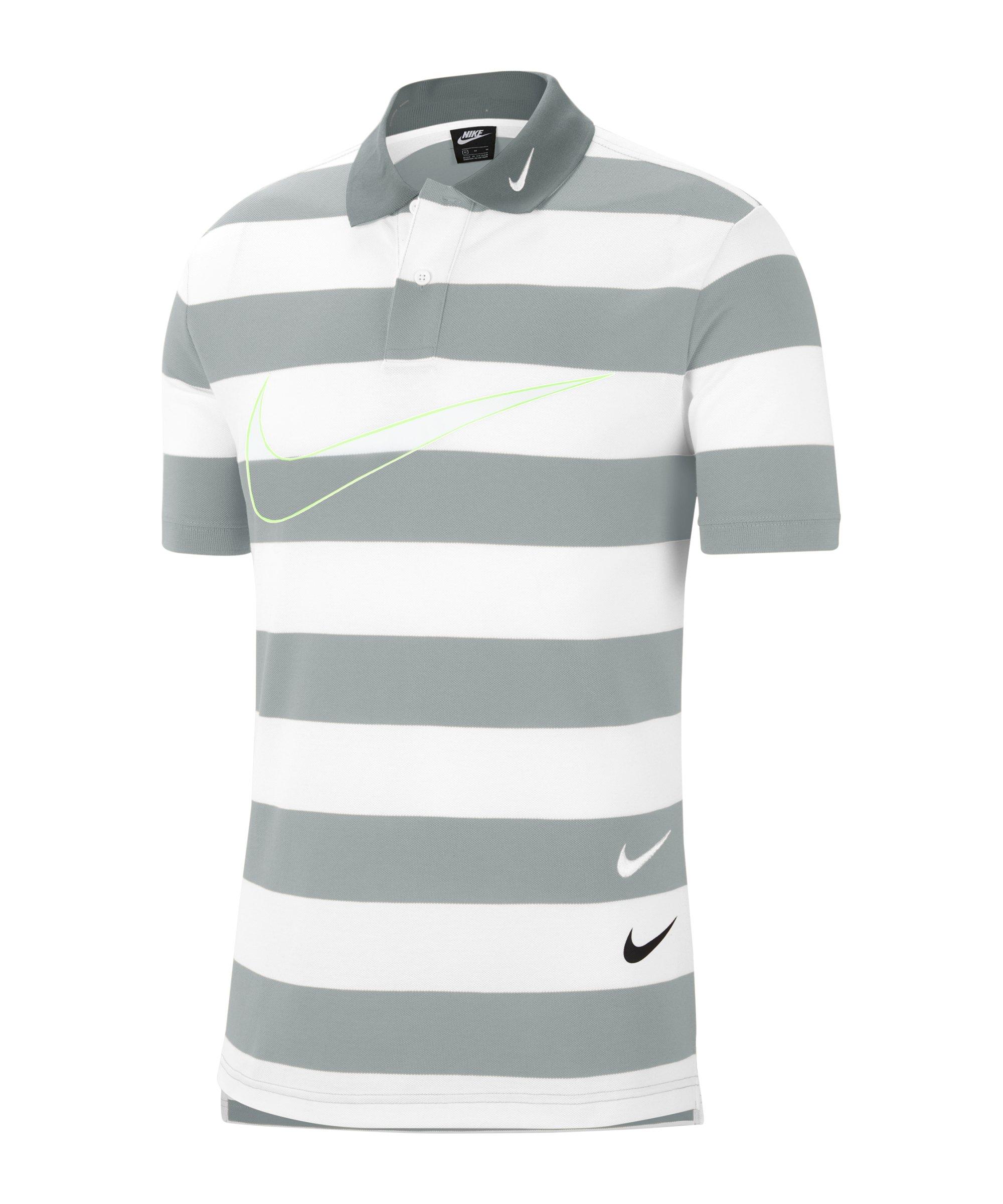Nike Swoosh Poloshirt Grau F077 - grau