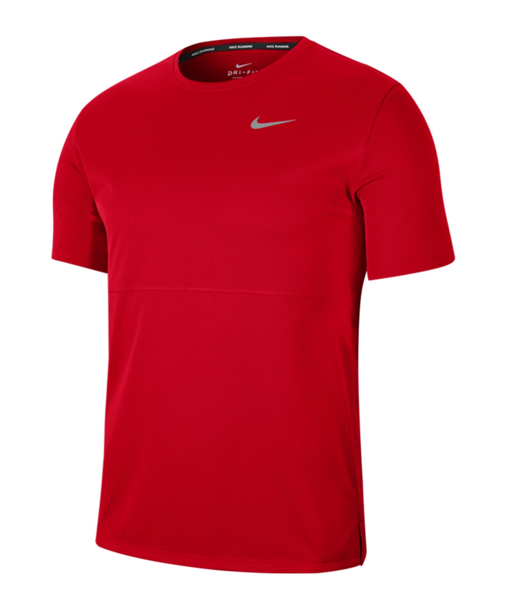Nike Breathe T-Shirt Running Rot F657 - rot