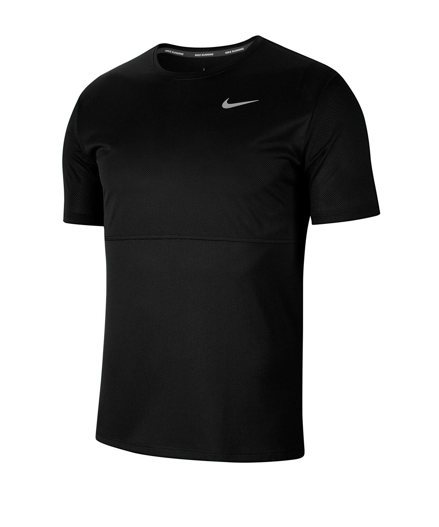 Nike Breathe T-Shirt Running Schwarz F010 - schwarz