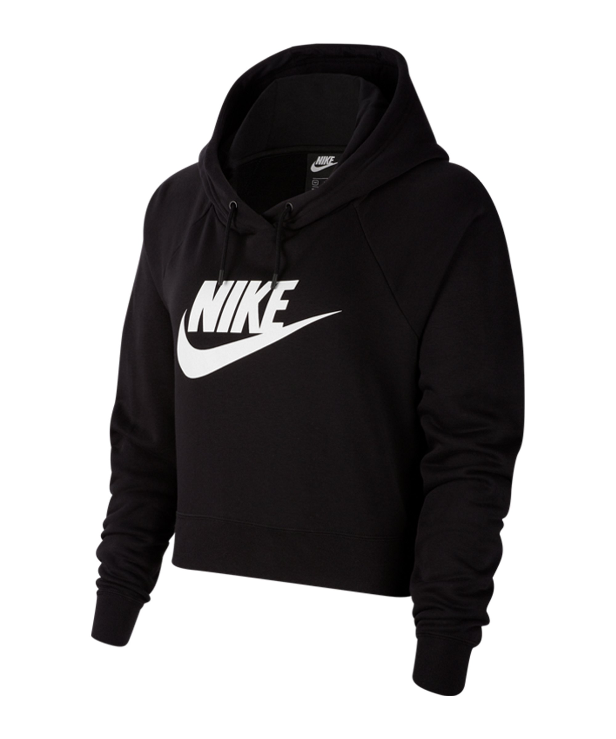 Nike Essential Cropped Hoody Damen Schwarz F010 - schwarz