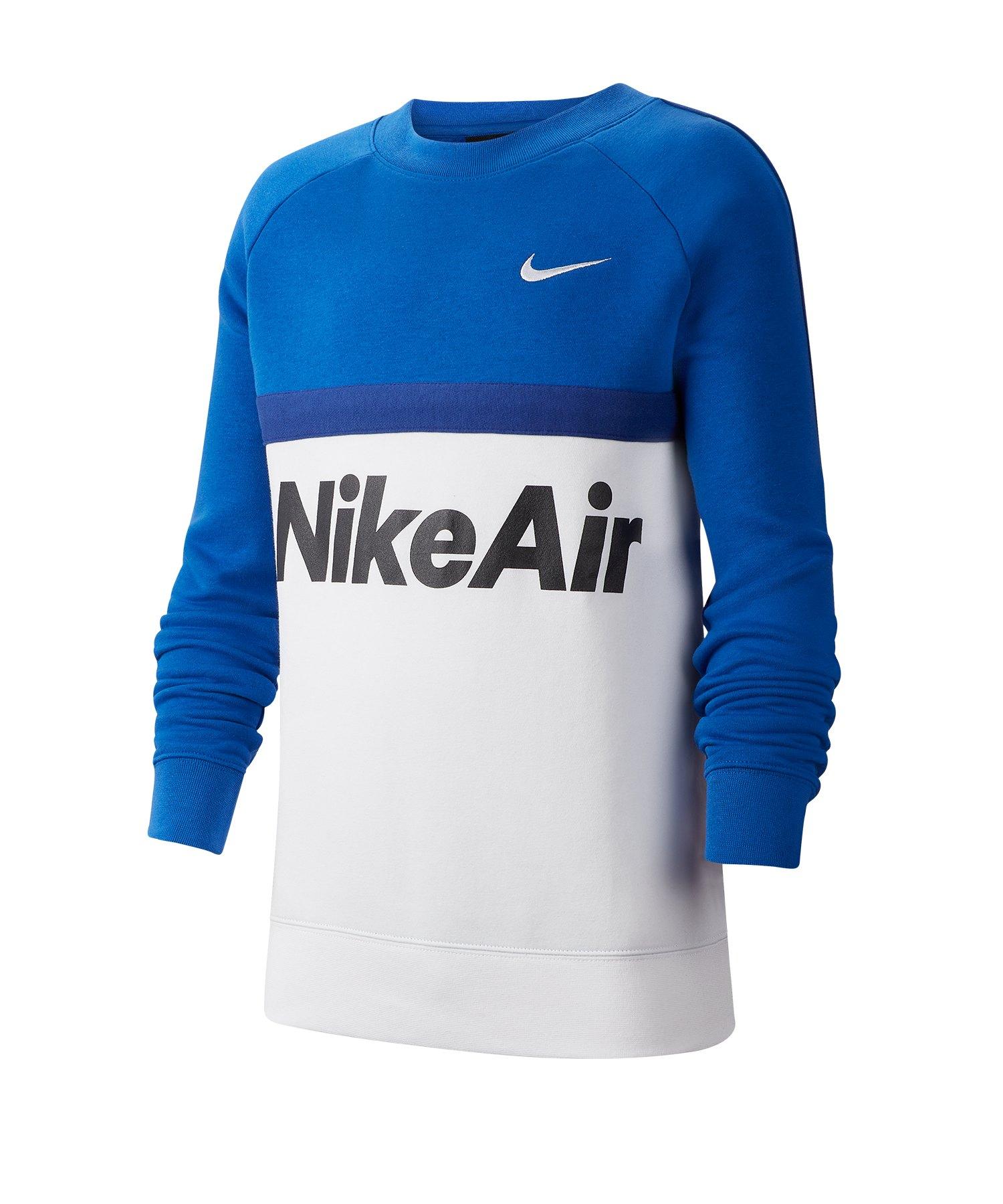 Nike Air Crew Sweatshirt Kids Blau F480 - blau