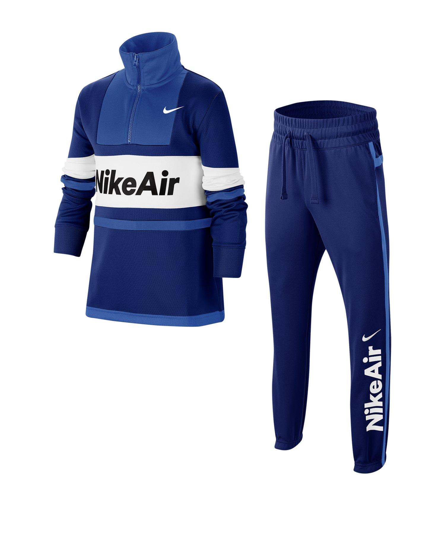 Nike Air Tracksuit Trainingsanzug Kids Blau F455 - blau