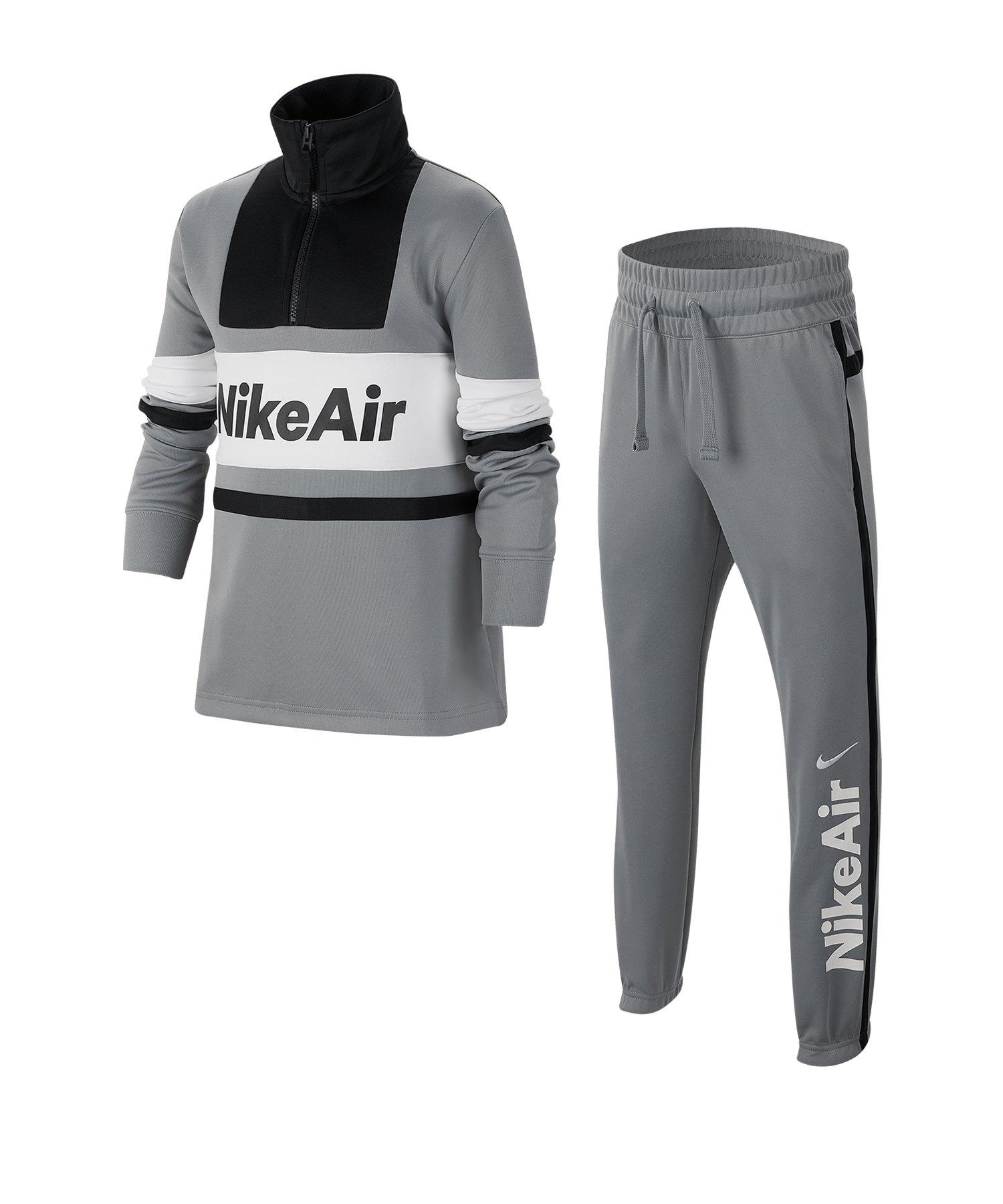 Nike Air Tracksuit Trainingsanzug Schwarz F073 - grau