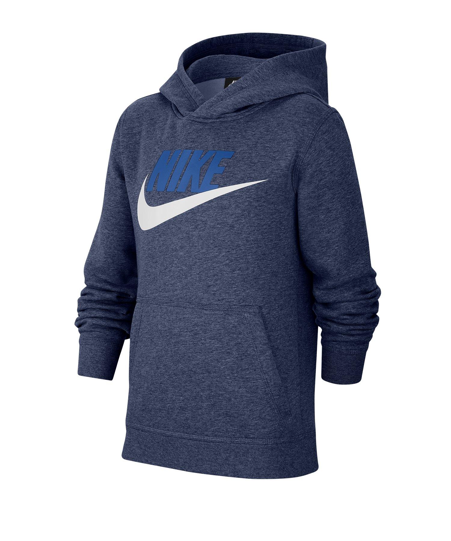 Nike Club Fleece Hoody Kapuzenpullove Kids F410 - blau