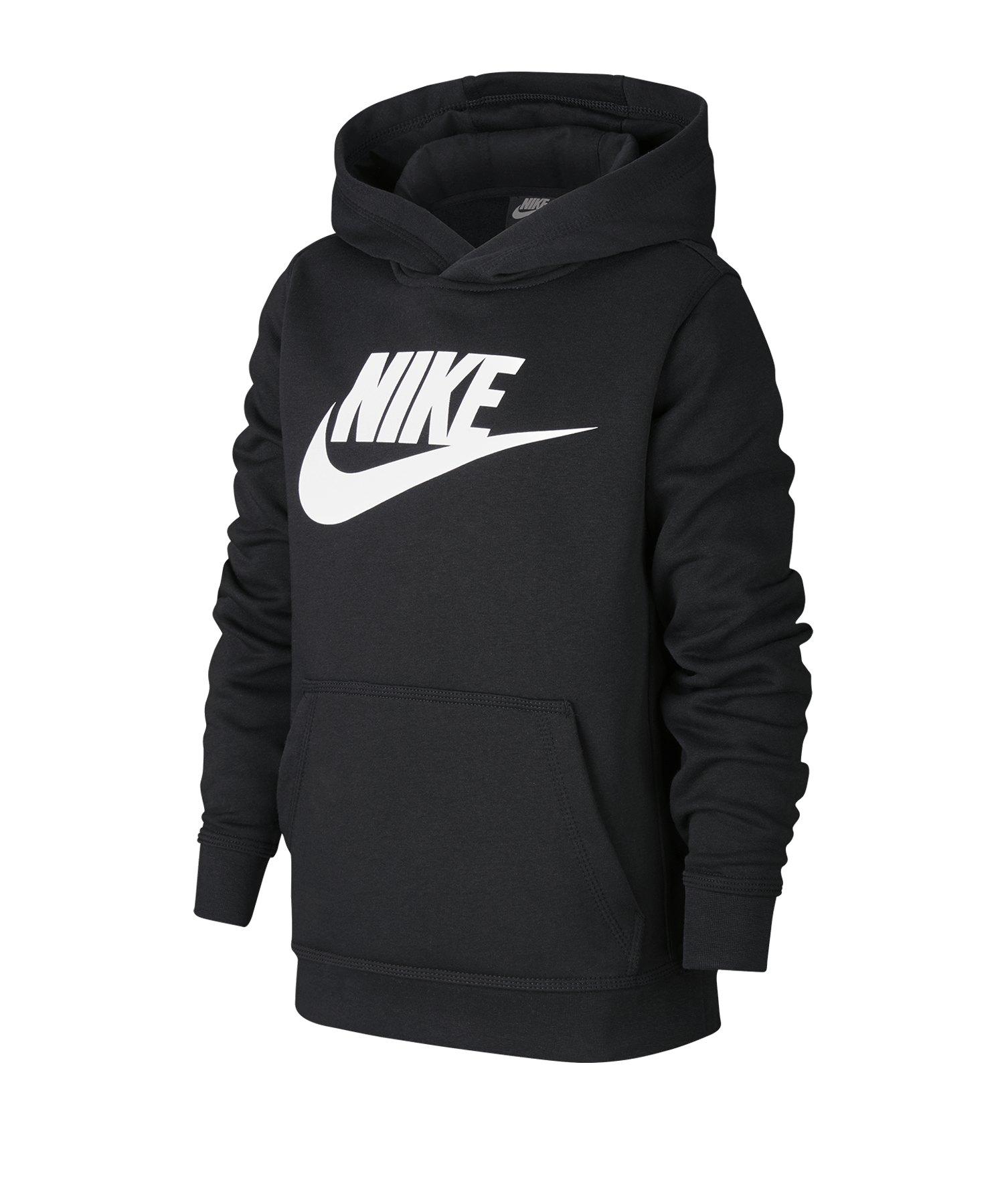 Nike Club Fleece Hoody Kapuzenpullover Kids F012 - schwarz