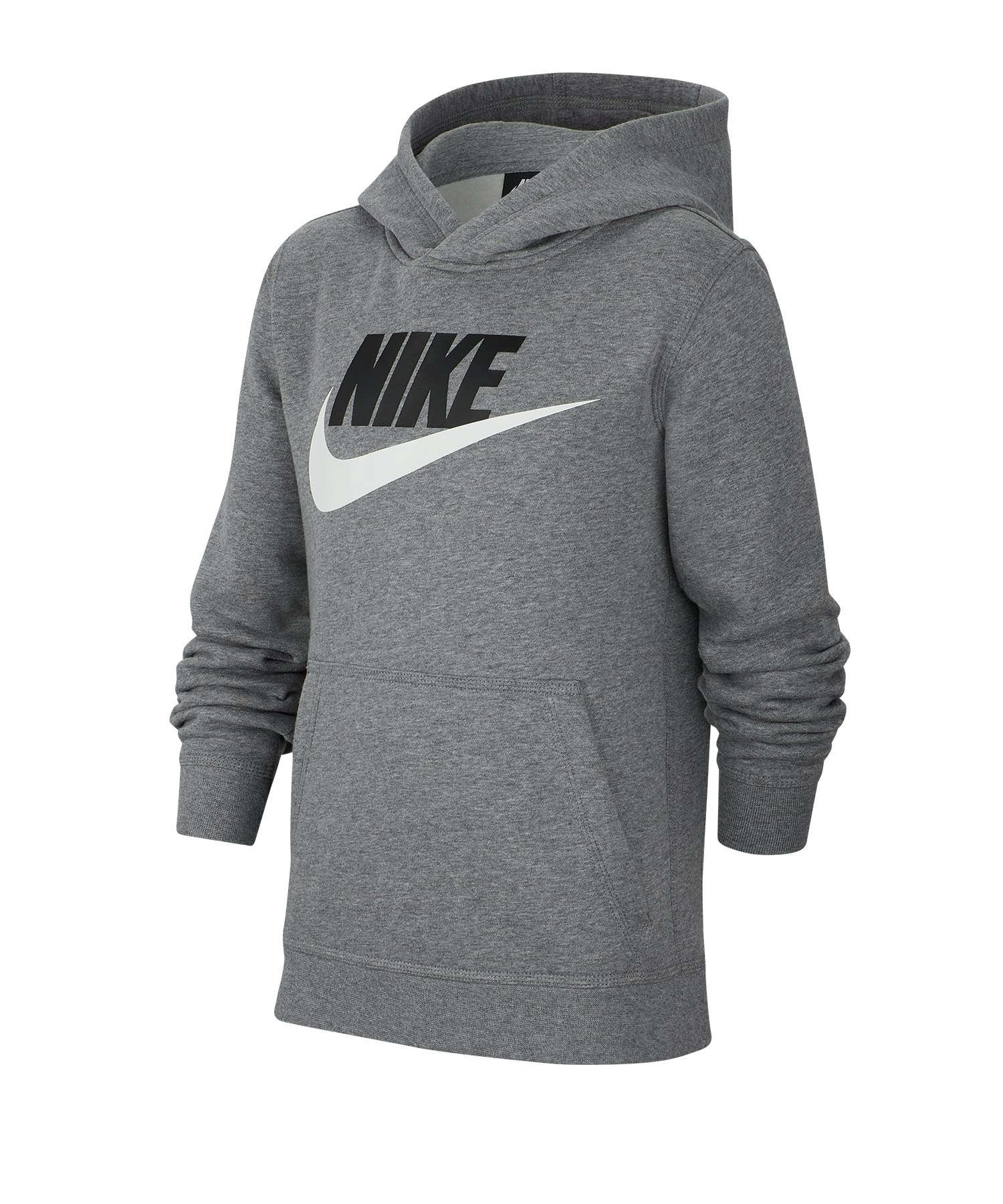 Nike Club Fleece Hoody Kapuzenpullover Kids F091 - grau