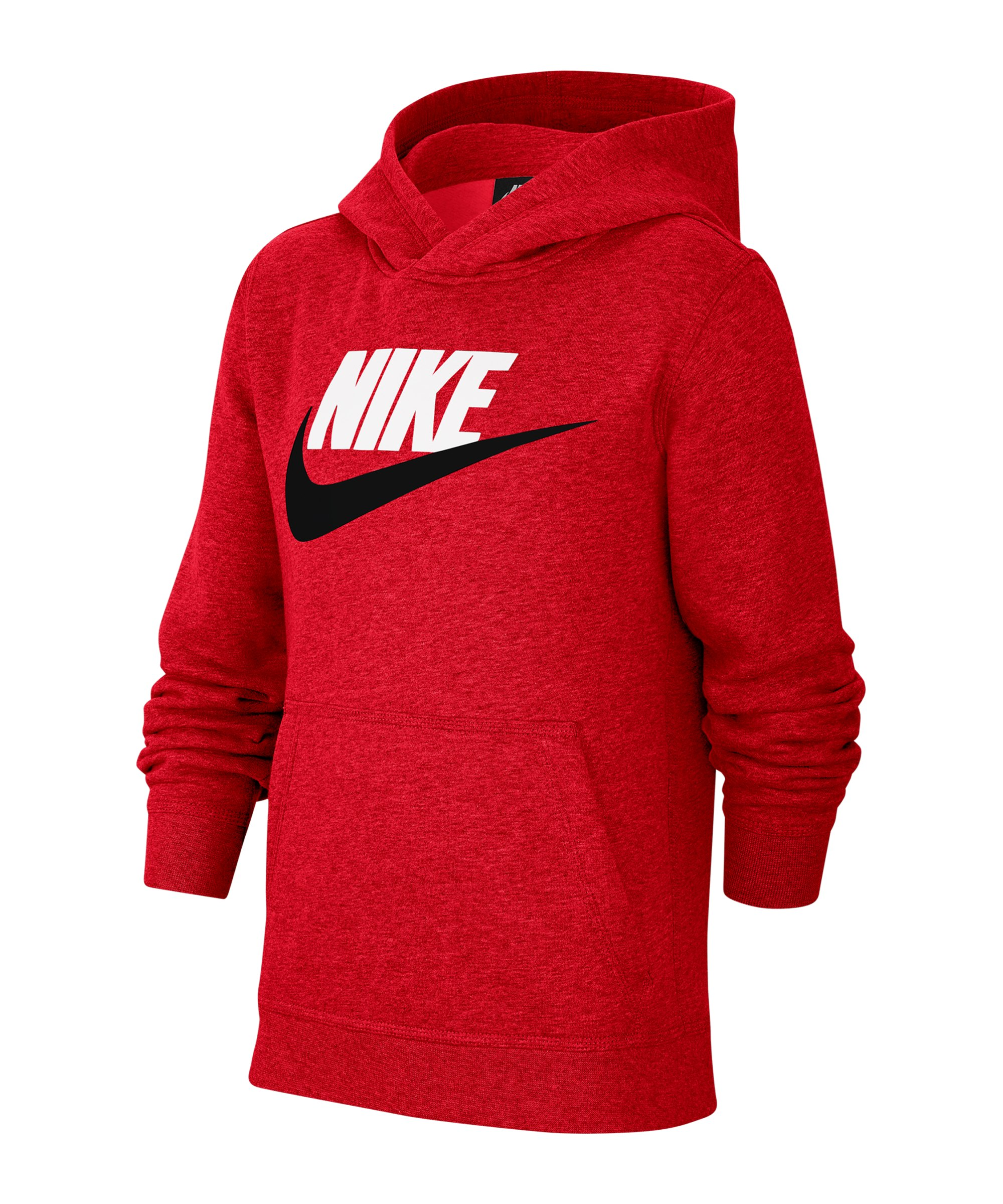 Nike Club Fleece Hoody Kapuzenpullover Kids F657 - rot