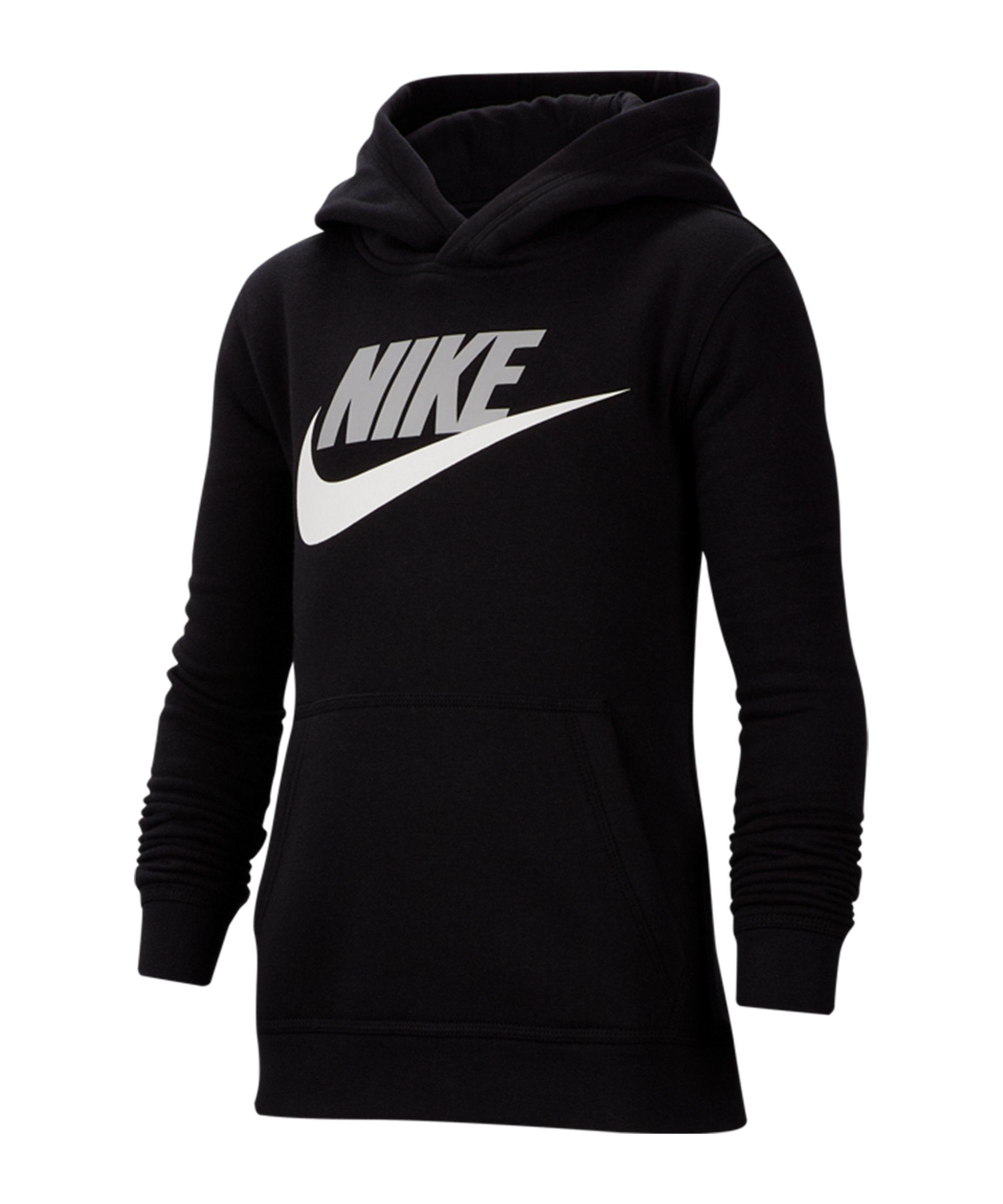 Nike Club Fleece Hoody Kids F011 - schwarz