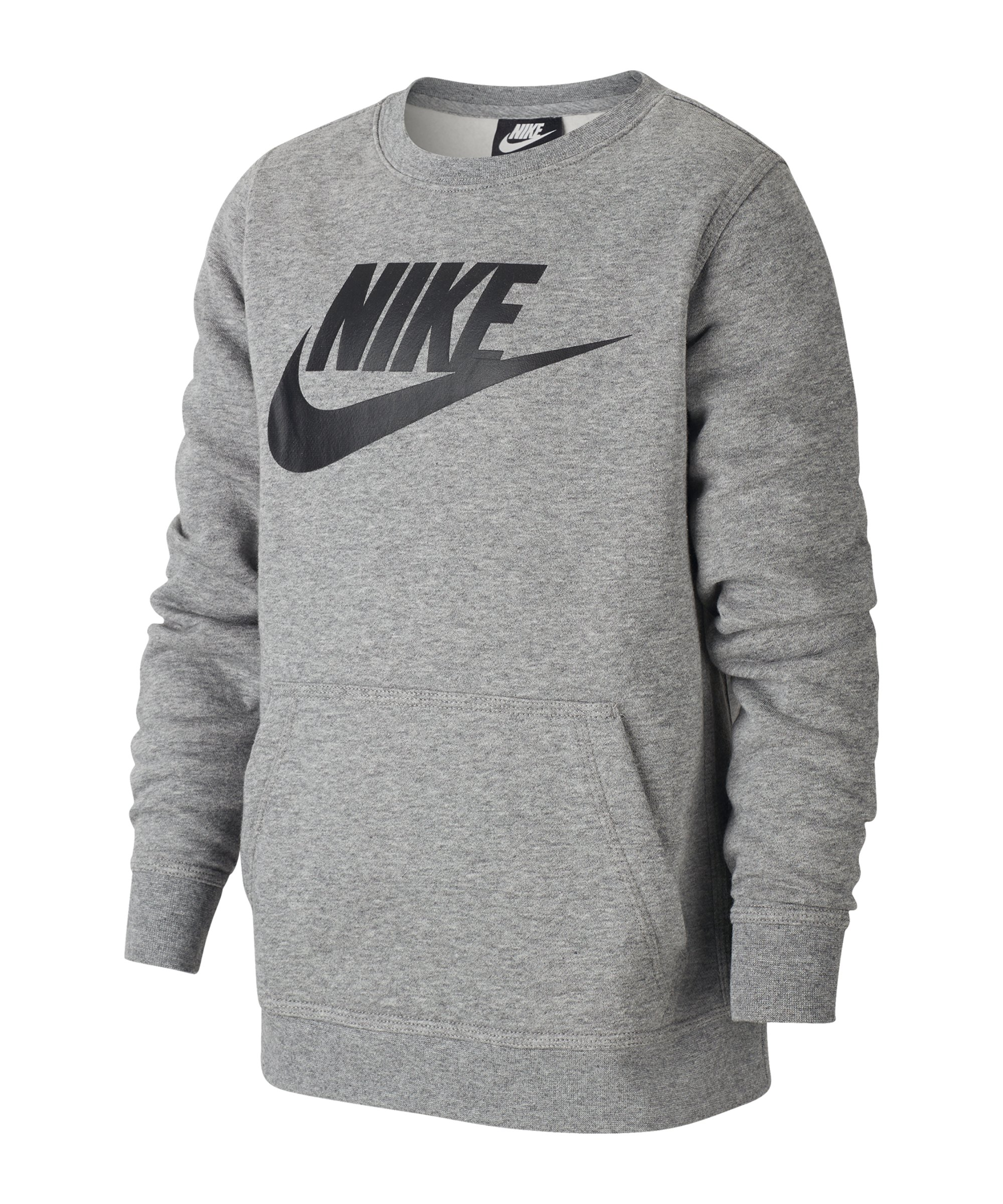 Nike Club Fleece Sweatshirt Kids F092 - grau