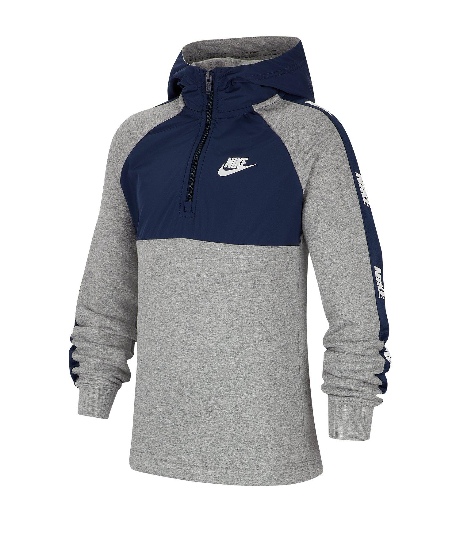 Nike 1/2-Zip Hoody Kids Blau F410 - blau
