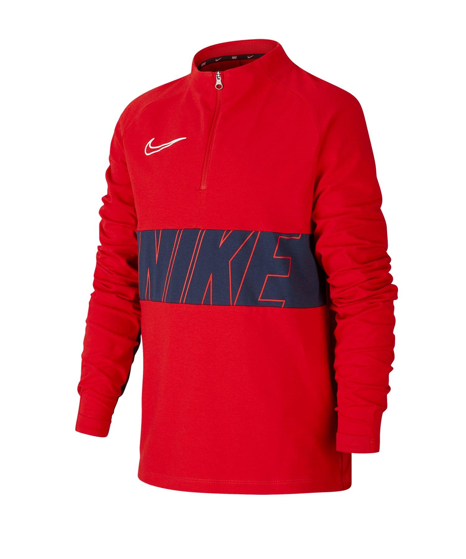 Nike Academy 1/4 Zip Top LS Kids F657 - rot