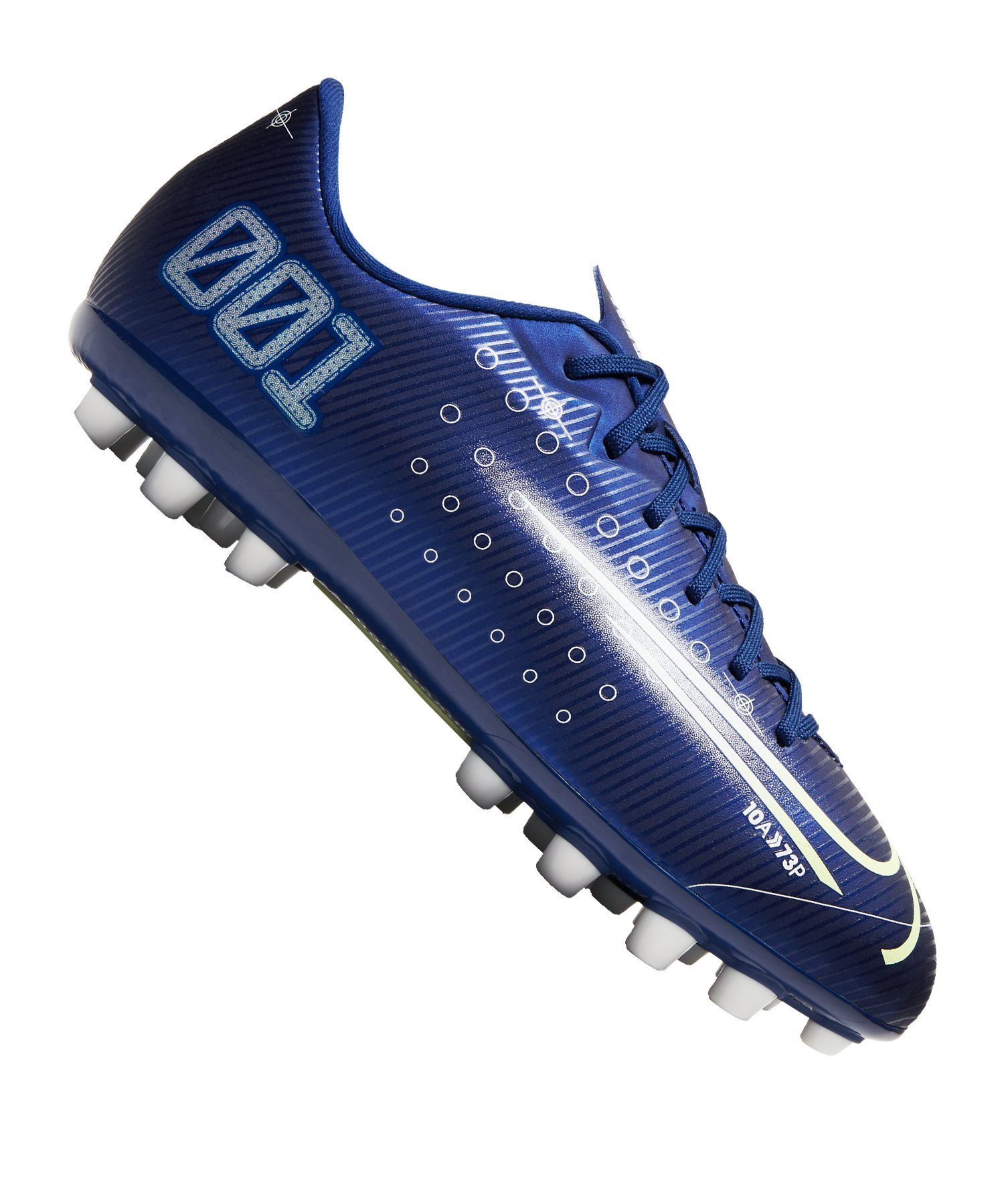 Nike Jr Mercurial Vapor XIII DS Academy AG Kids Blau F401 - blau
