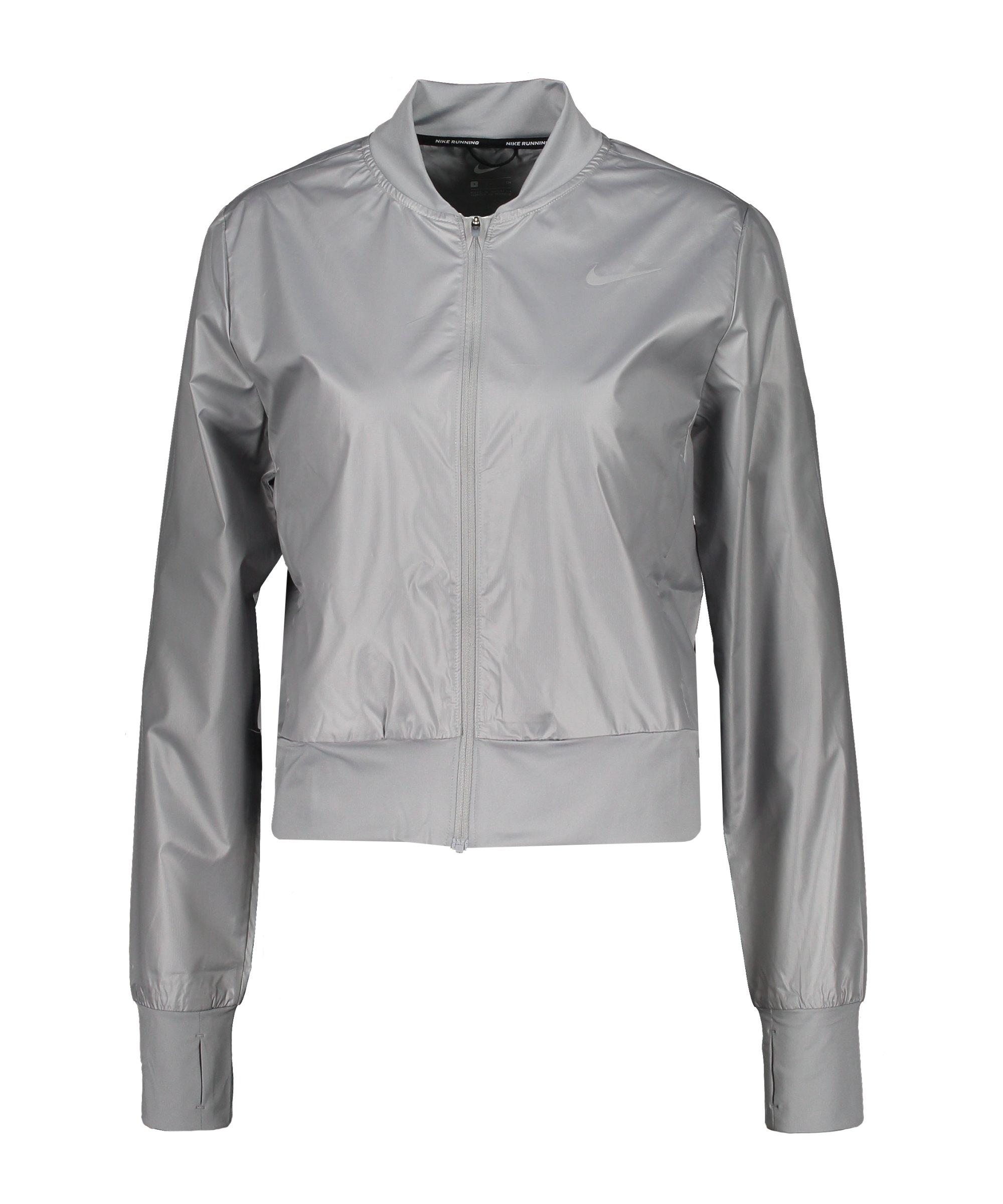 Nike Swoosh Run Jacke Running Damen Grau F073 - grau