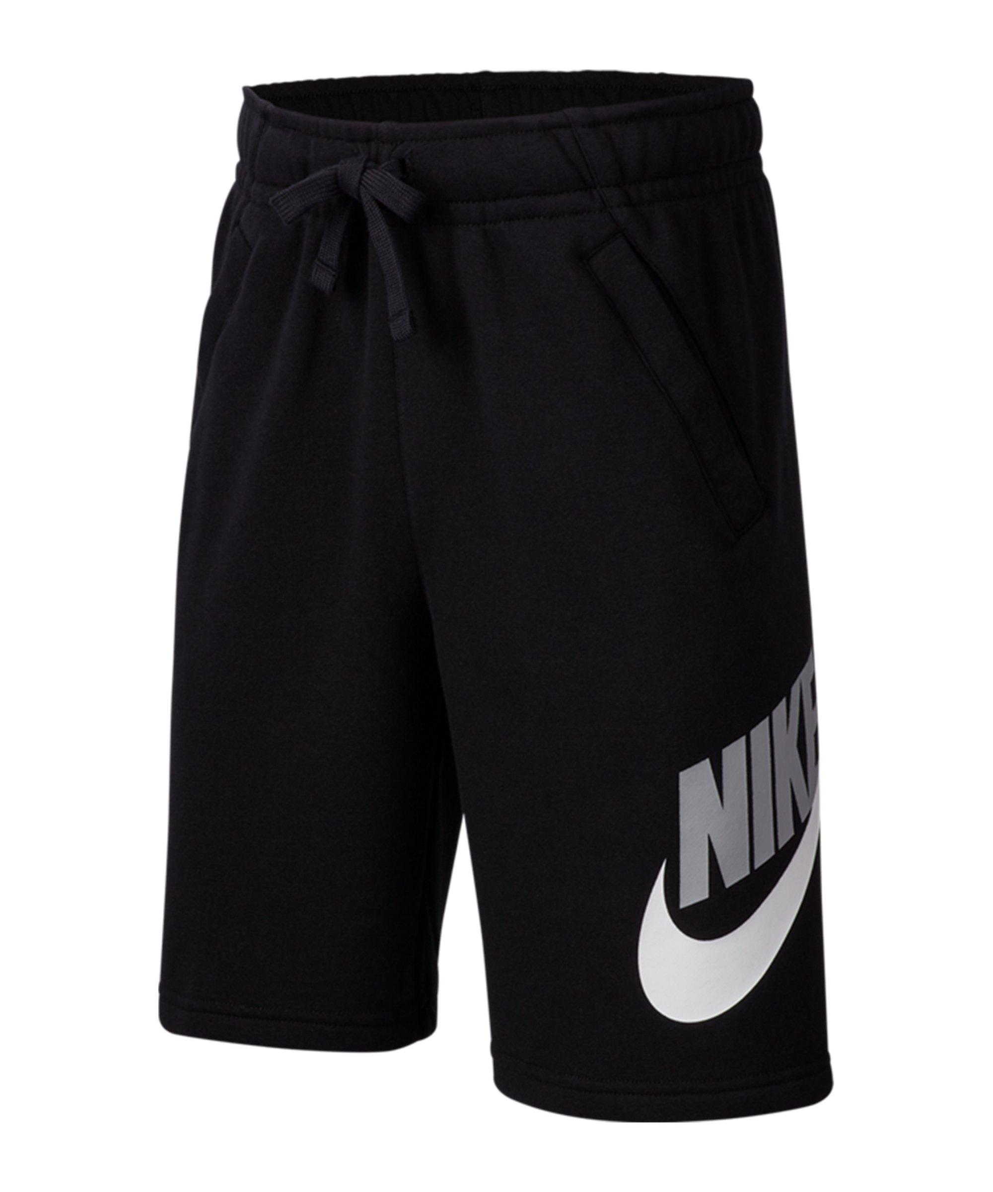 Nike Club Fleece Short Kids Schwarz F010 - schwarz