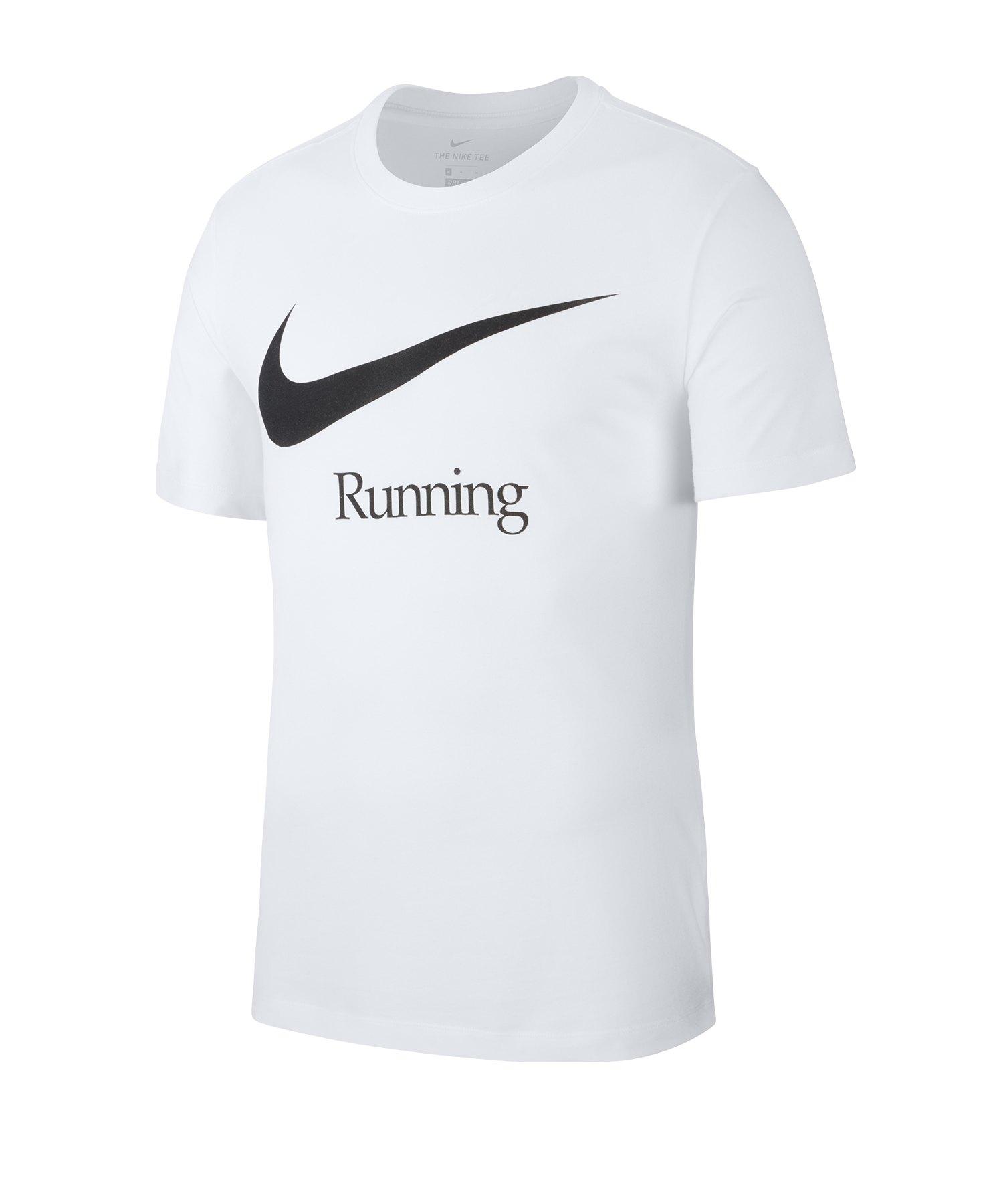 Nike Dri-FIT Running Tee T-Shirt Weiss F100 - weiss