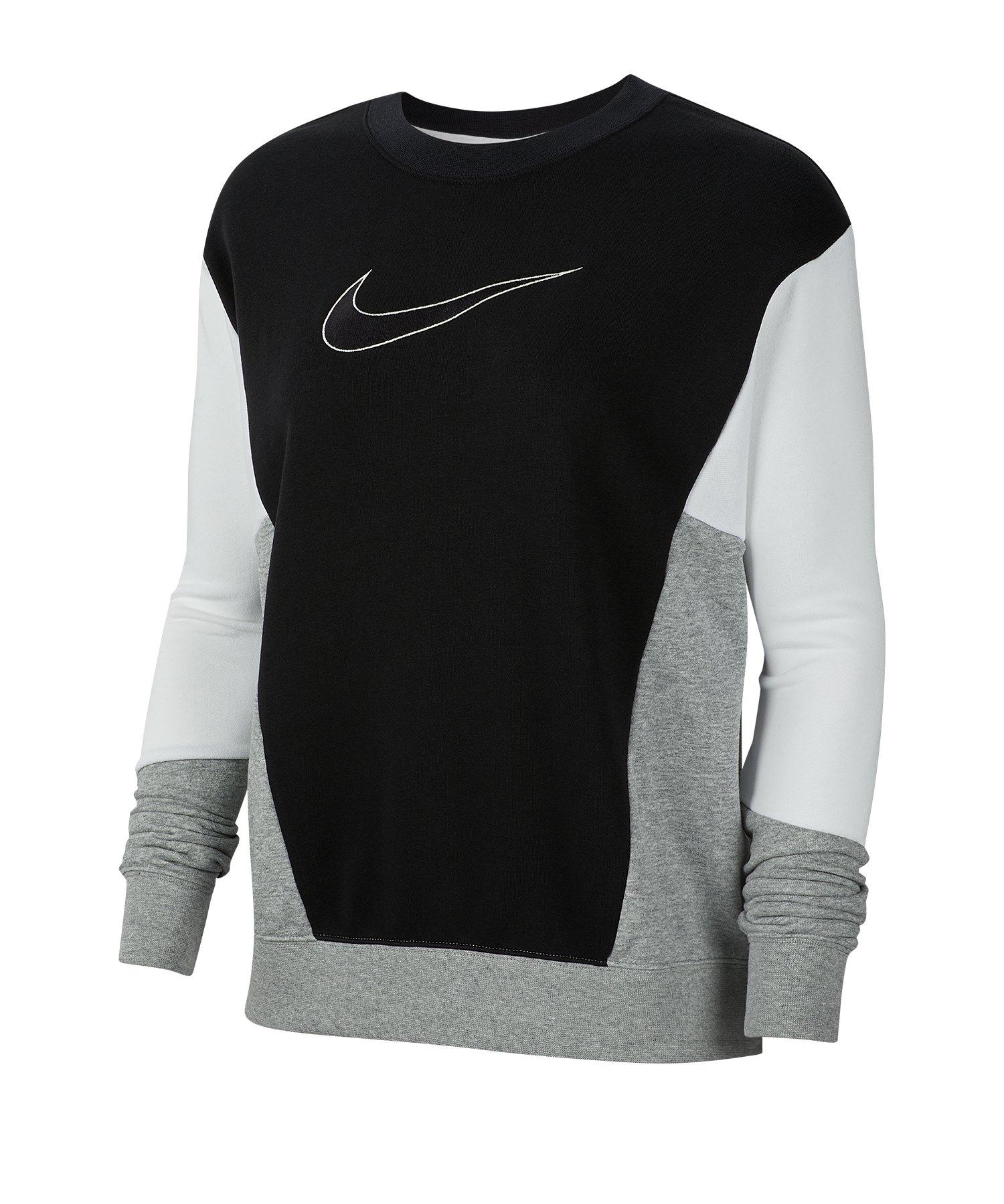 Nike Crew Sweatshirt Damen Schwarz F010 - schwarz