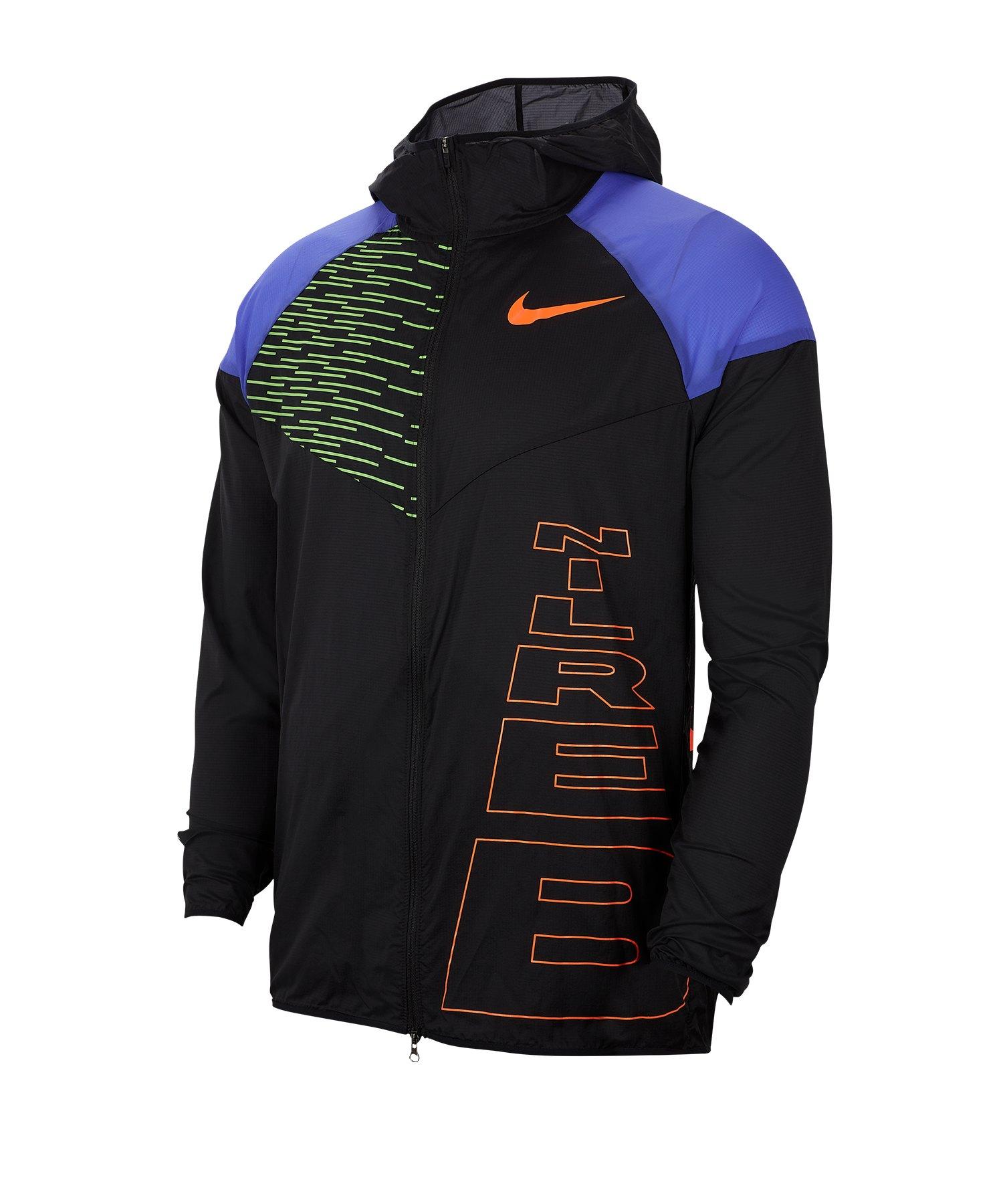 Nike Windrunner Jacke Running Schwarz F010 - schwarz