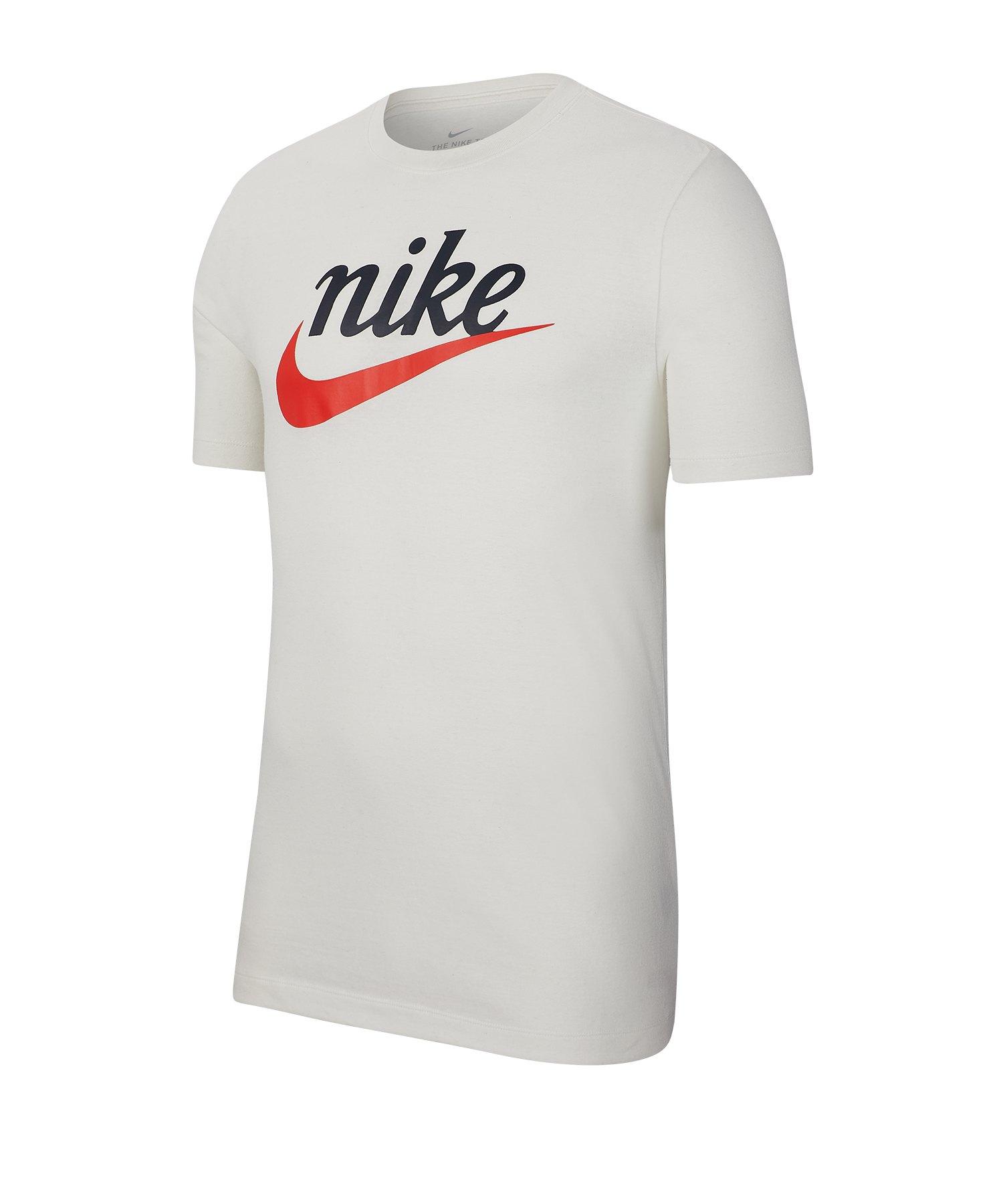 Nike Heritage Logo T-Shirt Weiss F133 - weiss