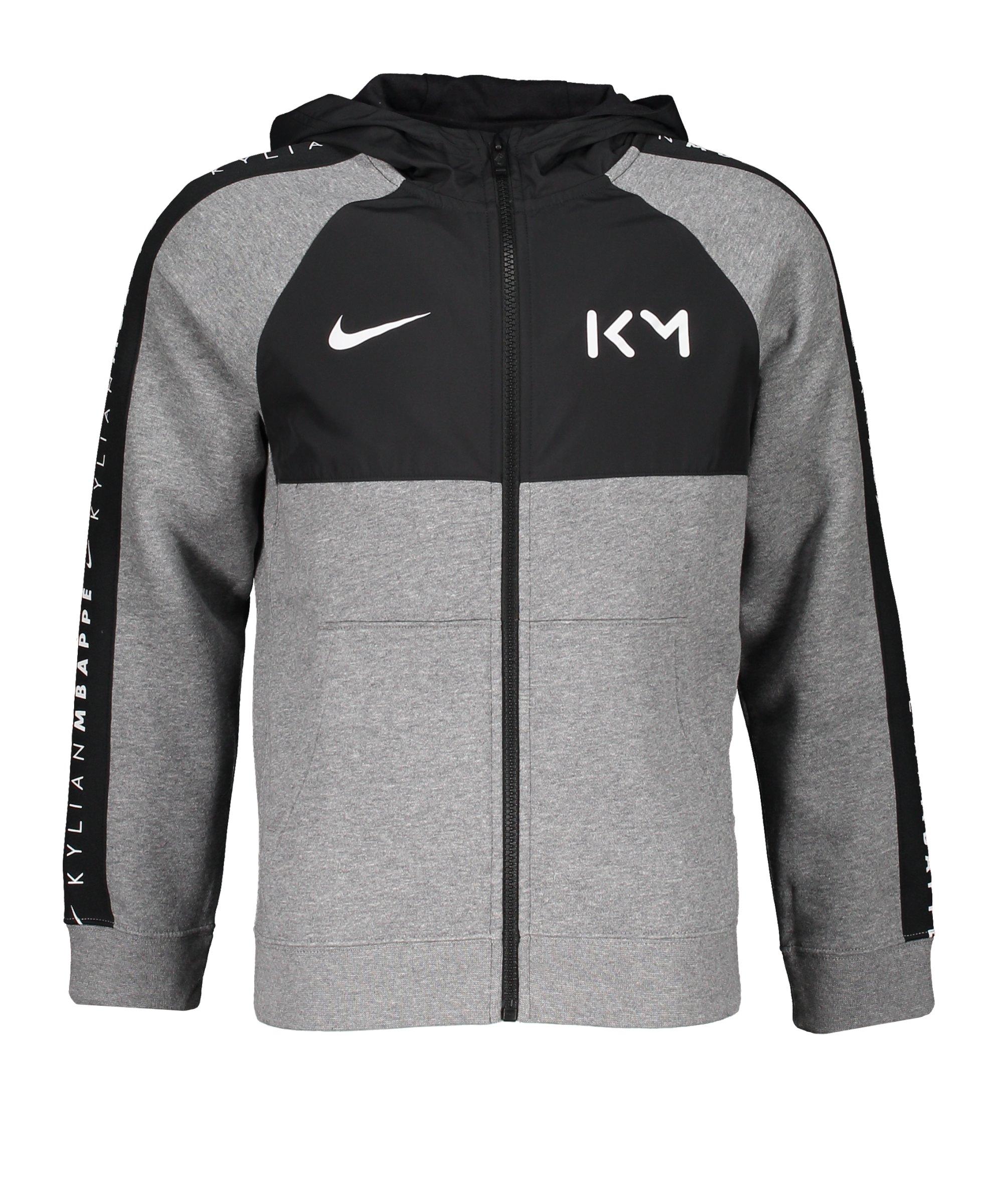 Nike Mbappe Fleece Kapuzenjacke Kids F091 - grau