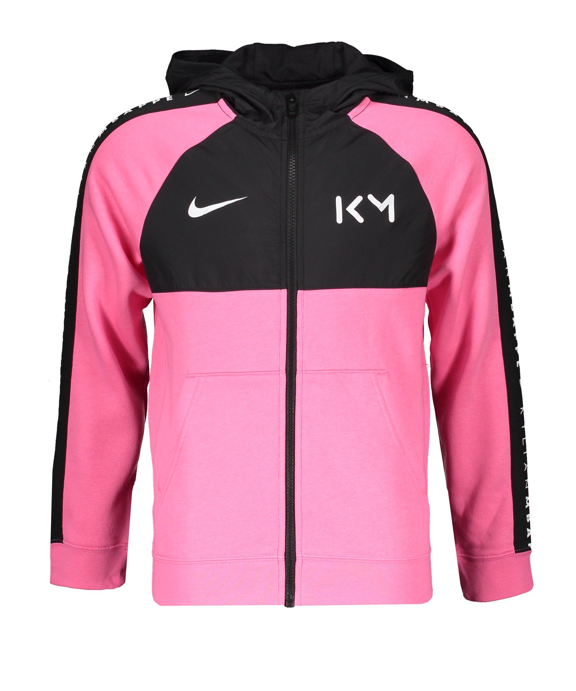 Nike Mbappe Fleece Kapuzenjacke Kids F607 - pink