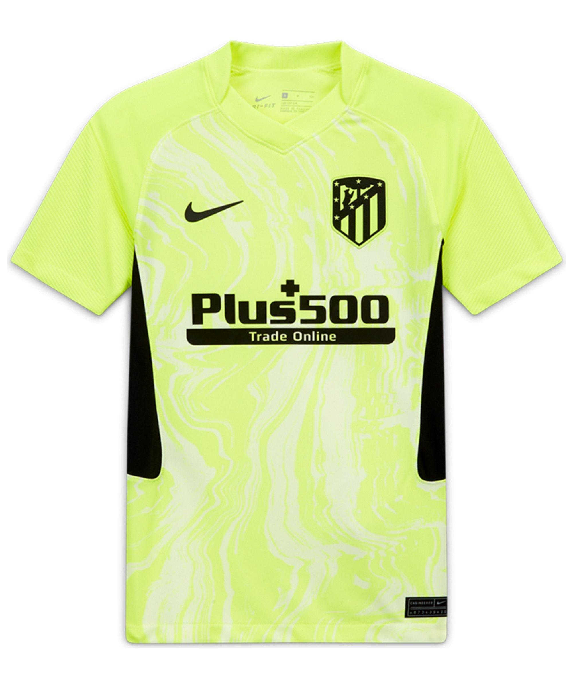 Nike Atletico Madrid Trikot 3rd 2020/2021 Kids Gelb F703 - gelb