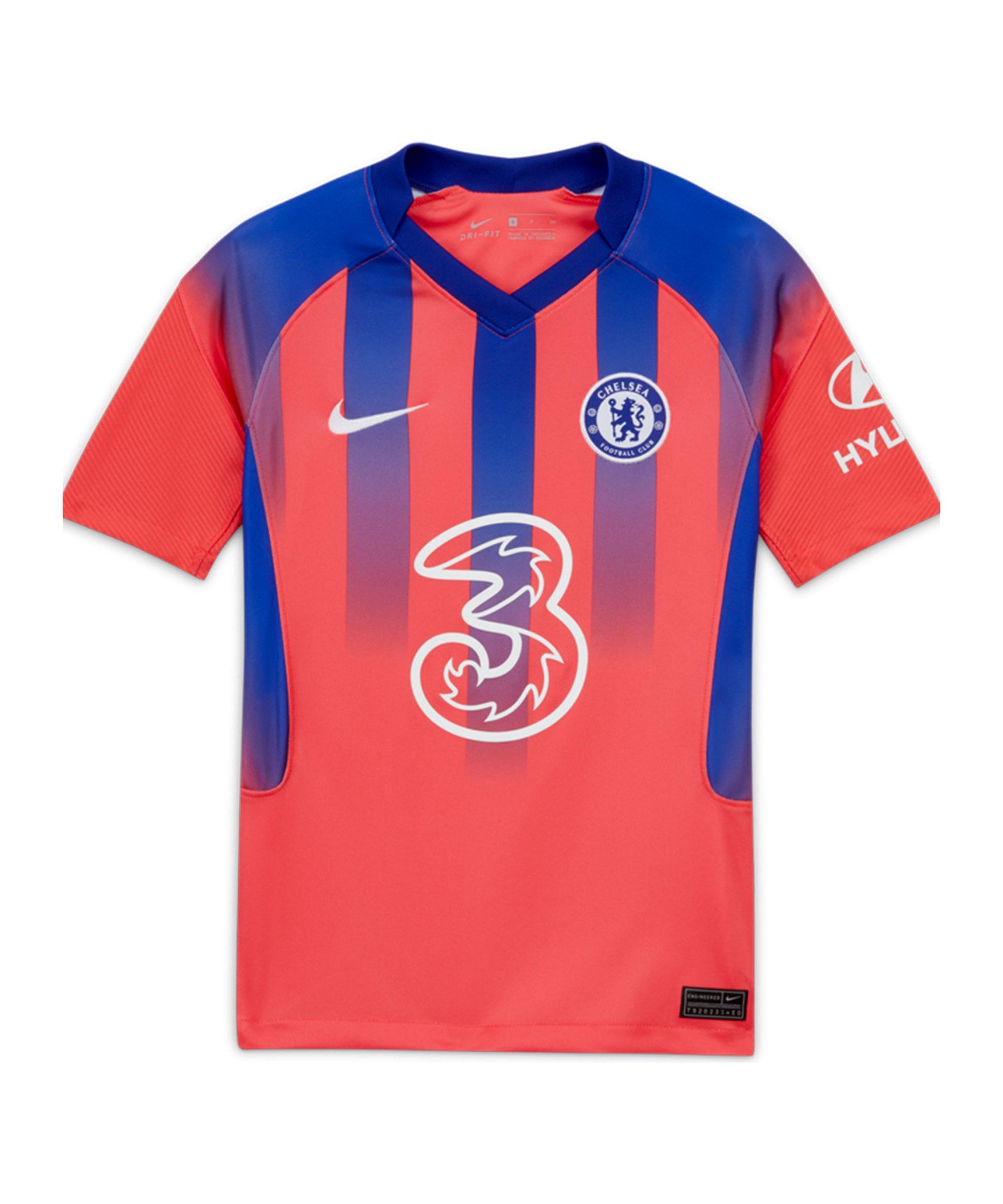 Nike FC Chelsea London Trikot UCL 2020/2021 Kids Rot F851 - orange