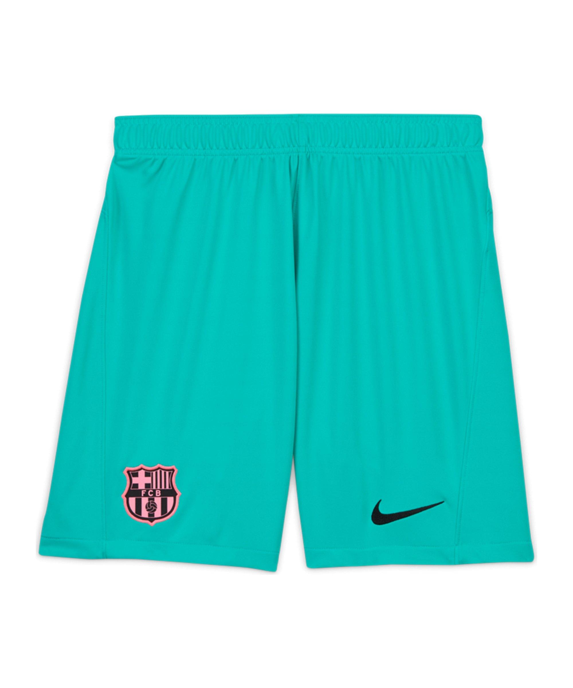 Nike FC Barcelona Short 3rd 2020/2021 Kids Grün F396 - gruen