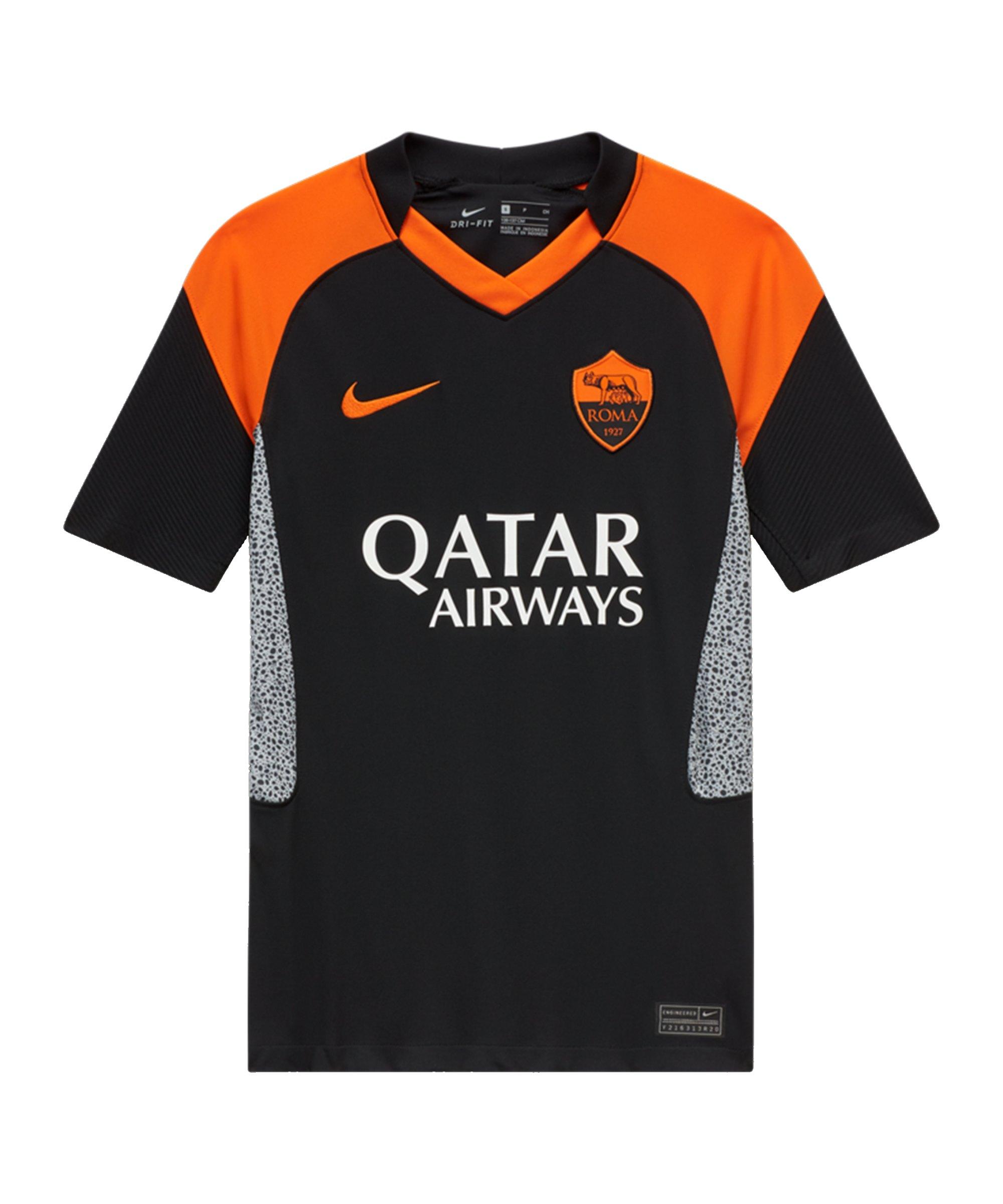 Nike AS Rom Trikot UCL 2020/2021 Kids Schwarz F011 - schwarz
