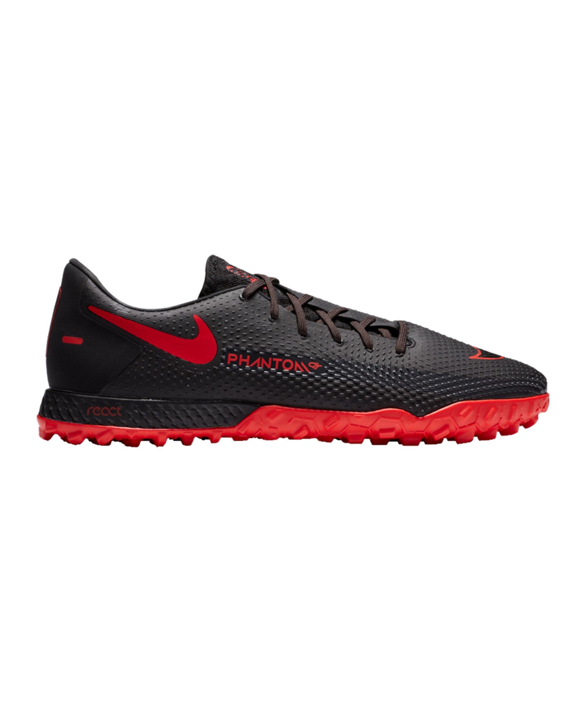 Nike React Phantom GT Black X Chile Red Pro TF Schwarz F060 - schwarz