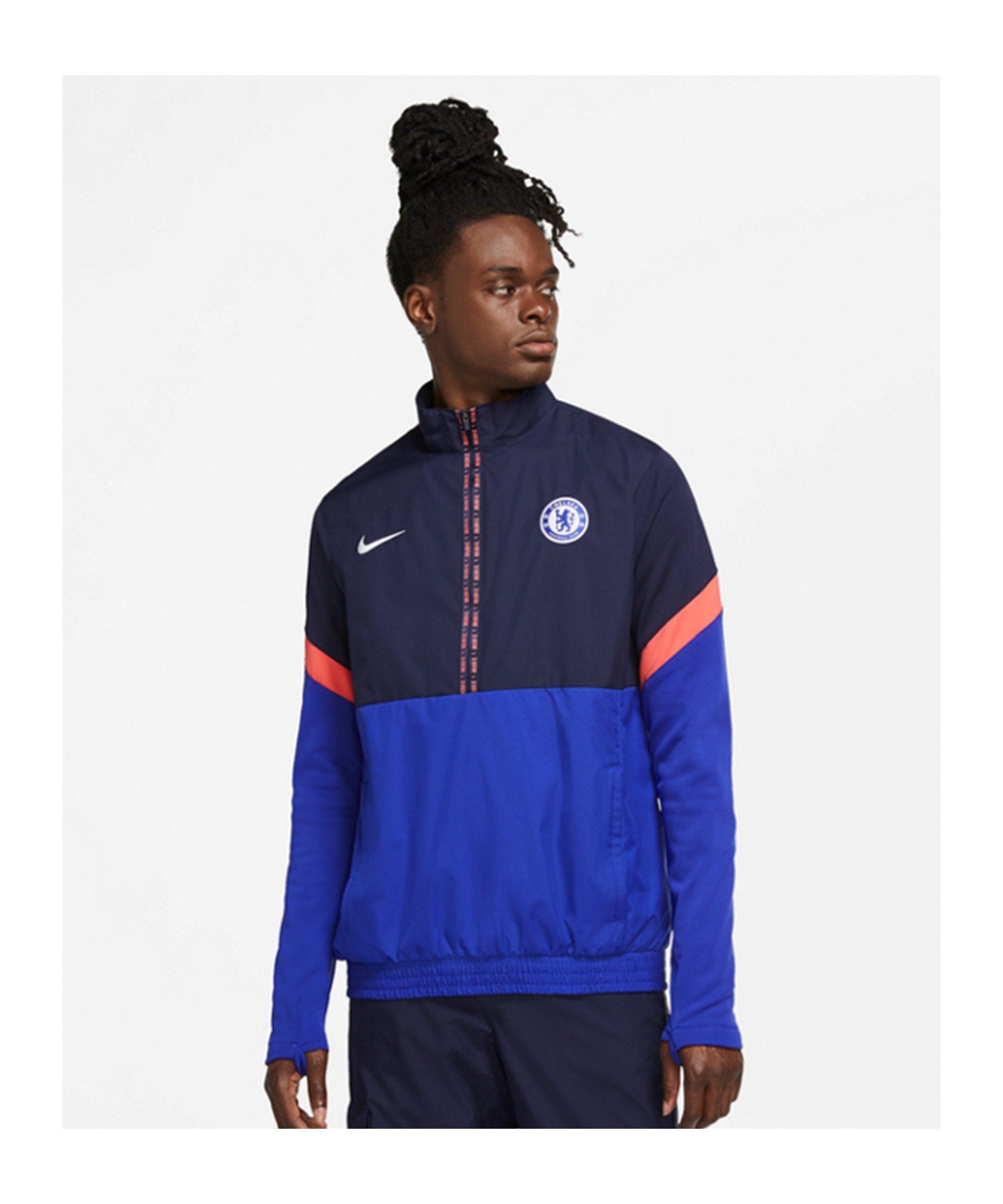 Nike FC Chelsea London Trainingsjacke CL Blau F471 - blau