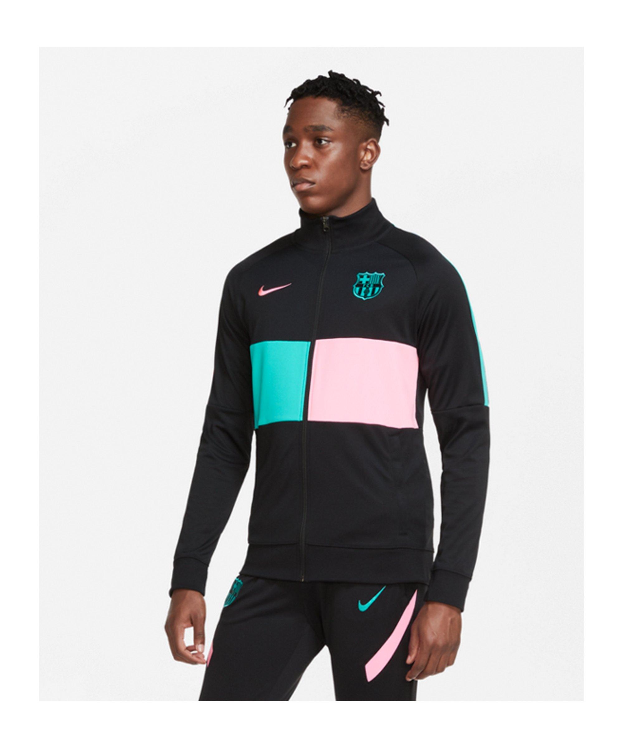 Nike FC Barcelona I96 Anthem Jacke Schwarz F010 - schwarz