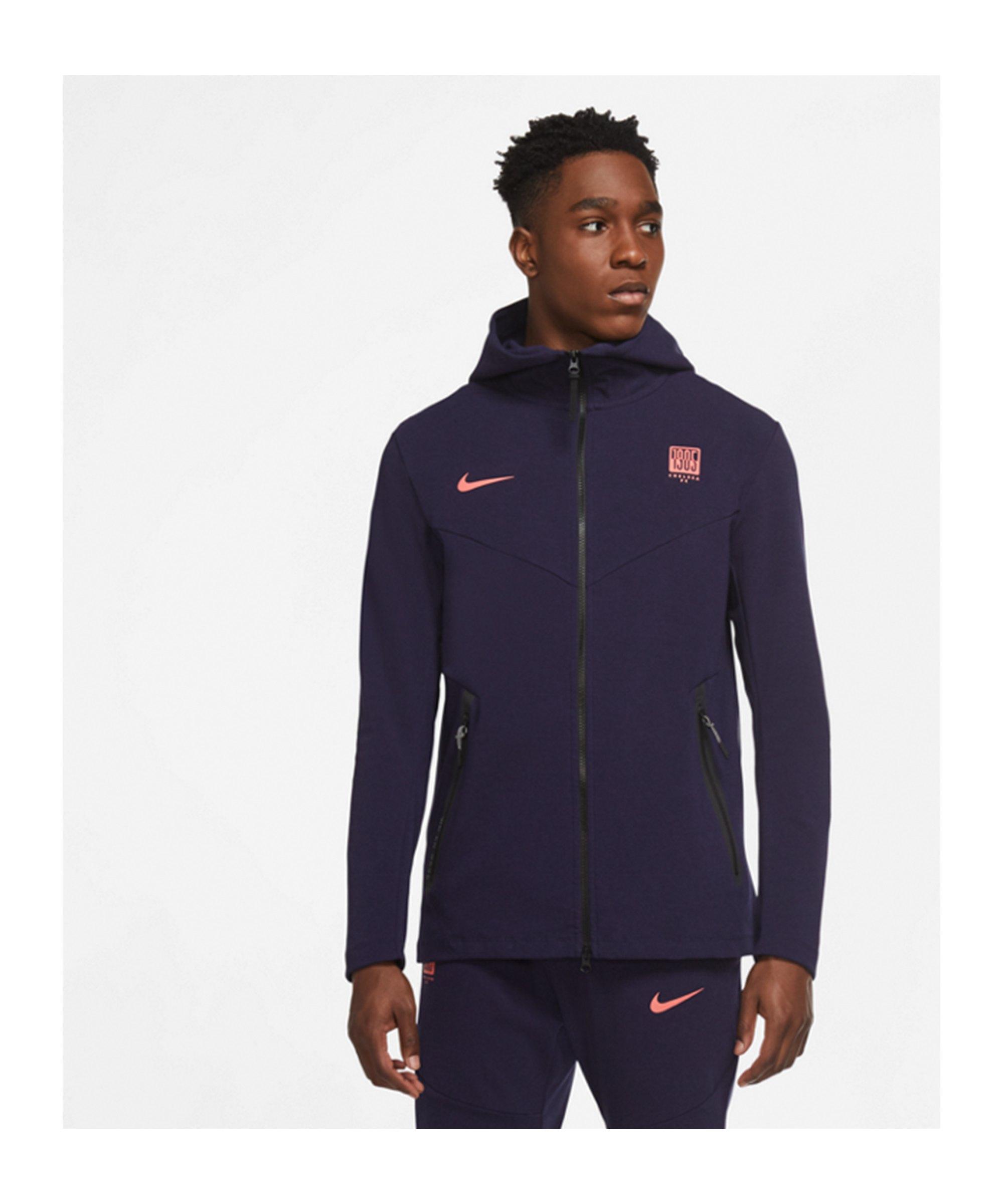 Nike FC Chelsea London Tech Kapuzenjacke CL F410 - blau