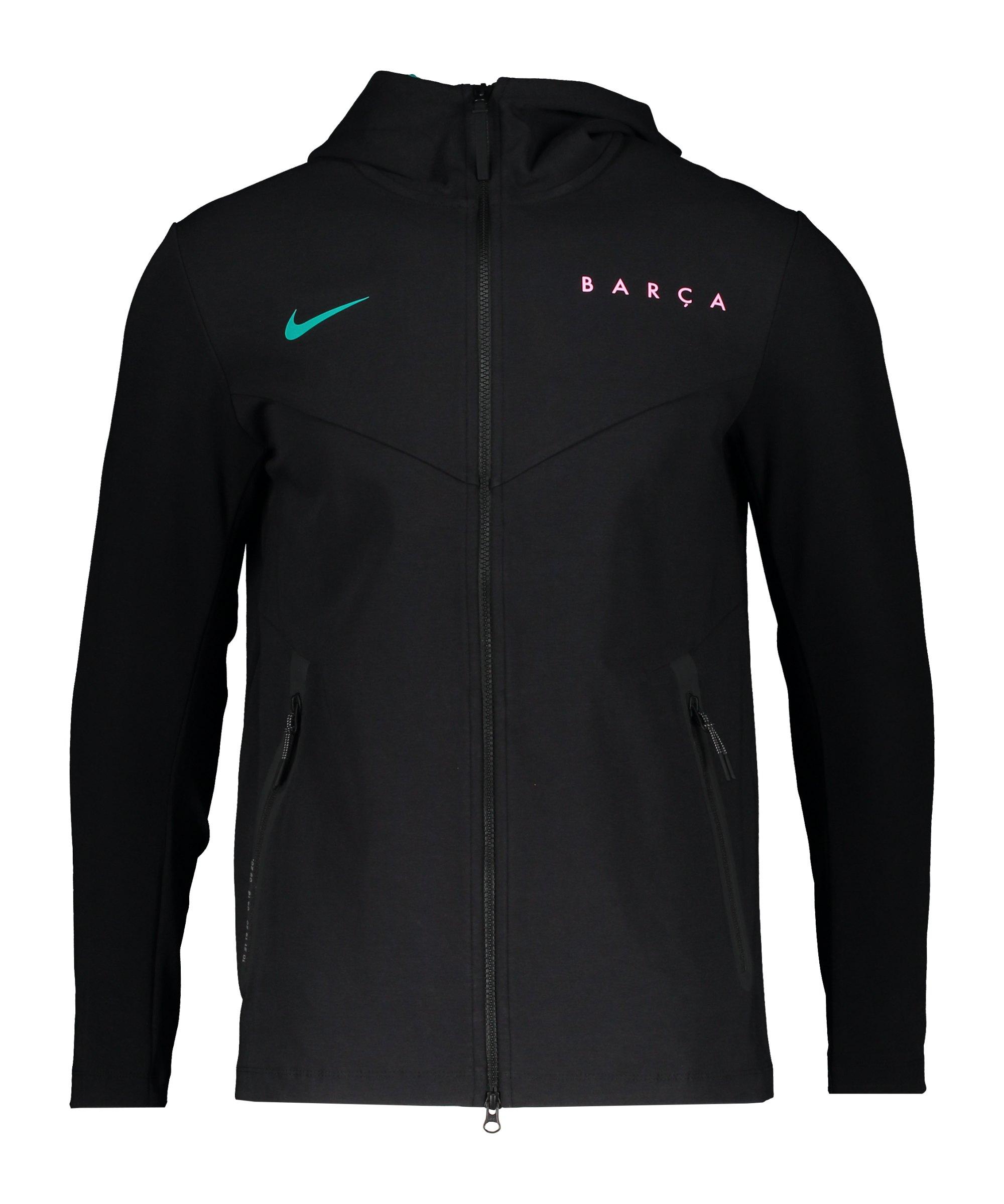 Nike FC Barcelona Tech Pack Kapuzenjacke CL F010 - schwarz