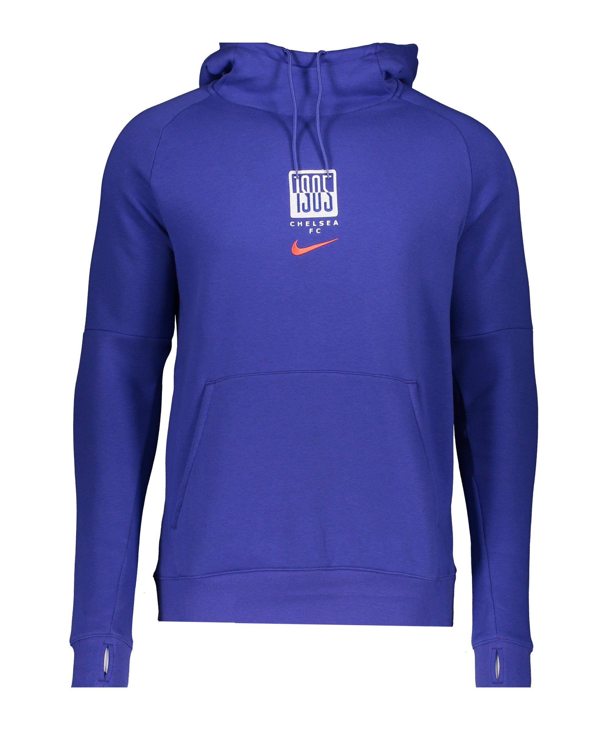 Nike FC Chelsea London Hoody CL Blau F471 - blau