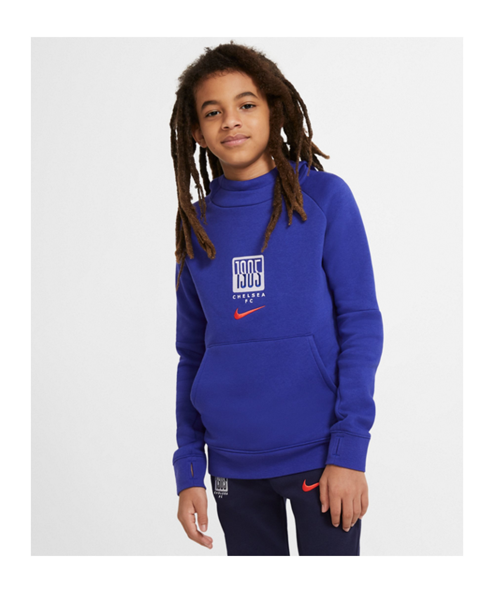 Nike FC Chelsea London Hoody CL Kids Blau F471 - blau
