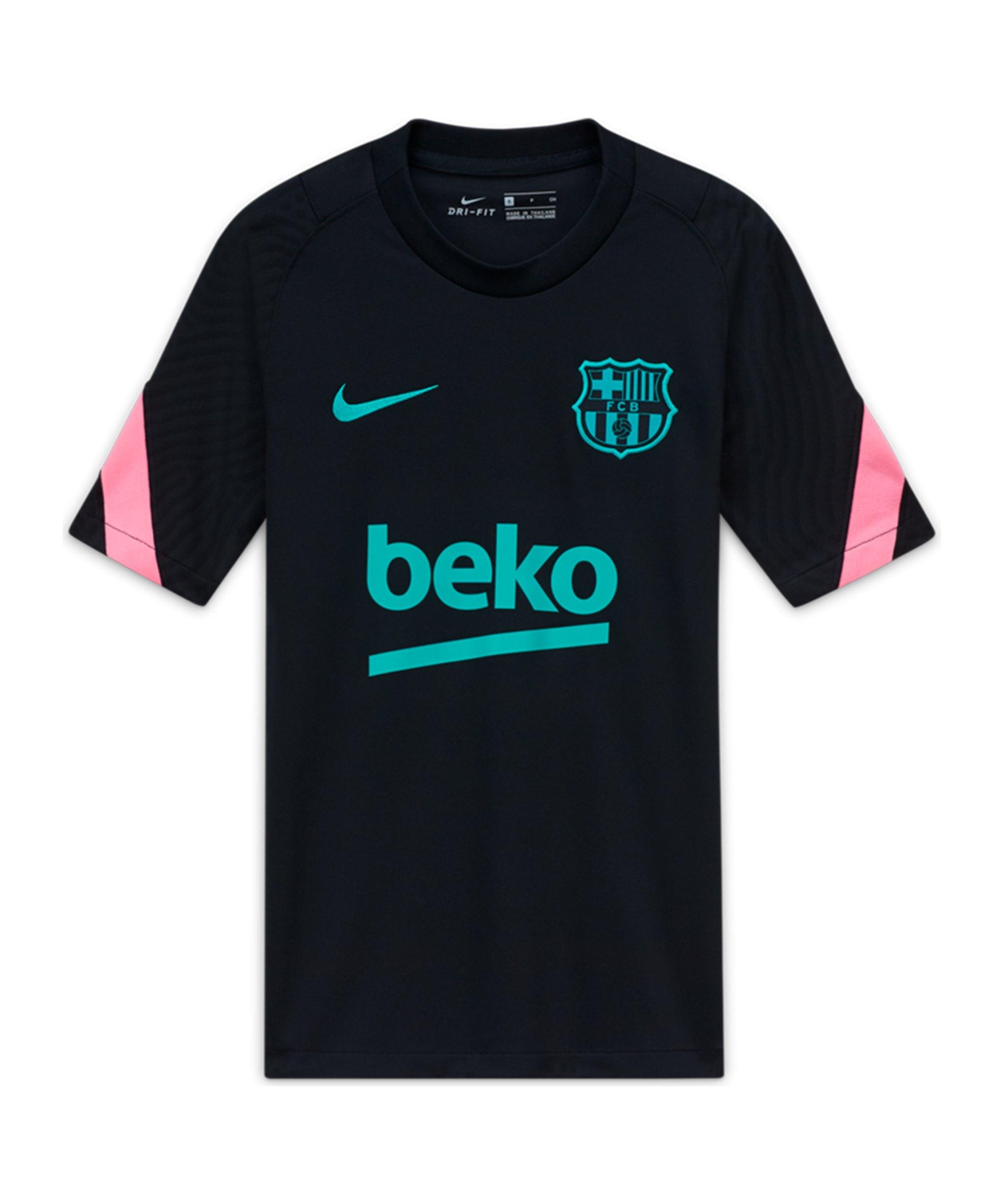 Nike FC Barcelona Strike Trainingsshirt CL Kids Schwarz F011 - schwarz