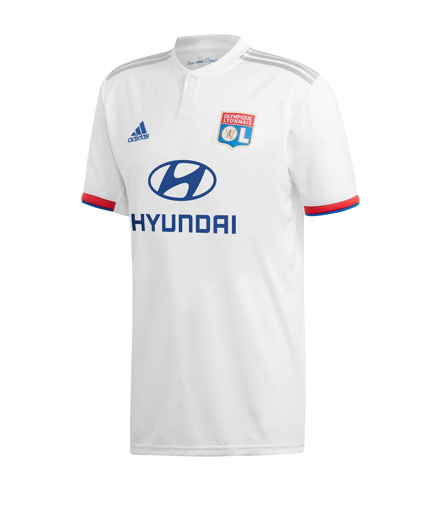 adidas Olympique Lyon Trikot Home 19/20 Weiss - weiss
