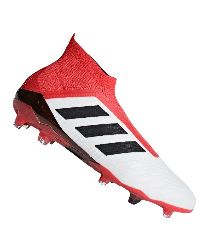 adidas Predator 18+ FG Weiss Rot - weiss