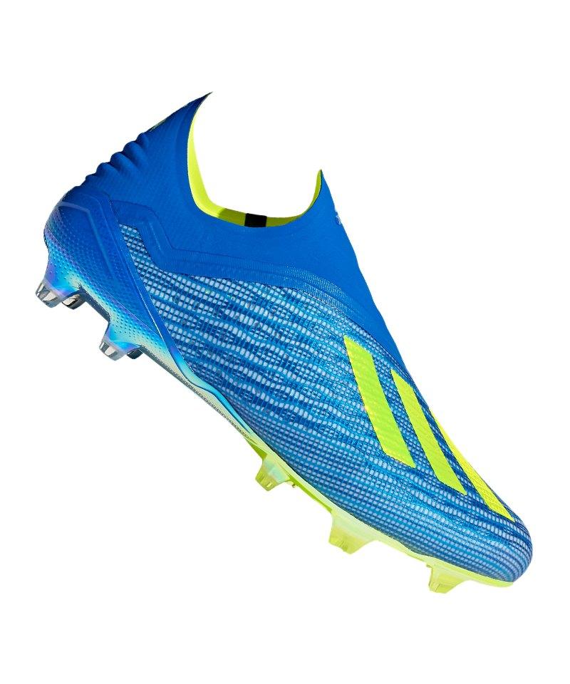 adidas X 18+ FG Blau Gelb - blau