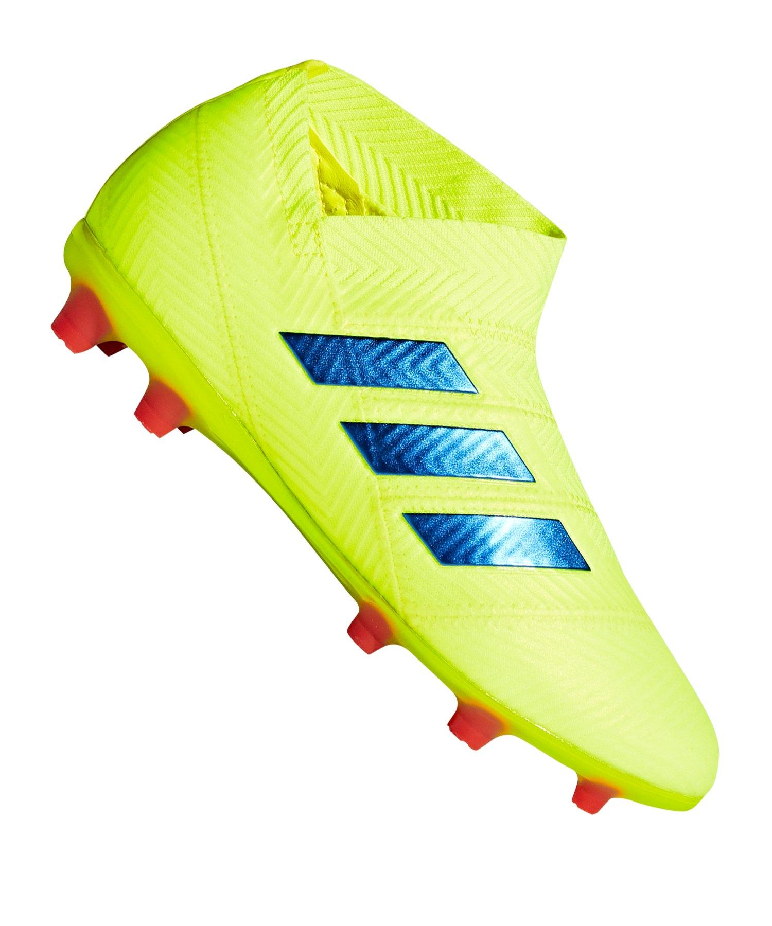 adidas NEMEZIZ 18+ FG J Kids Gelb Blau - gelb