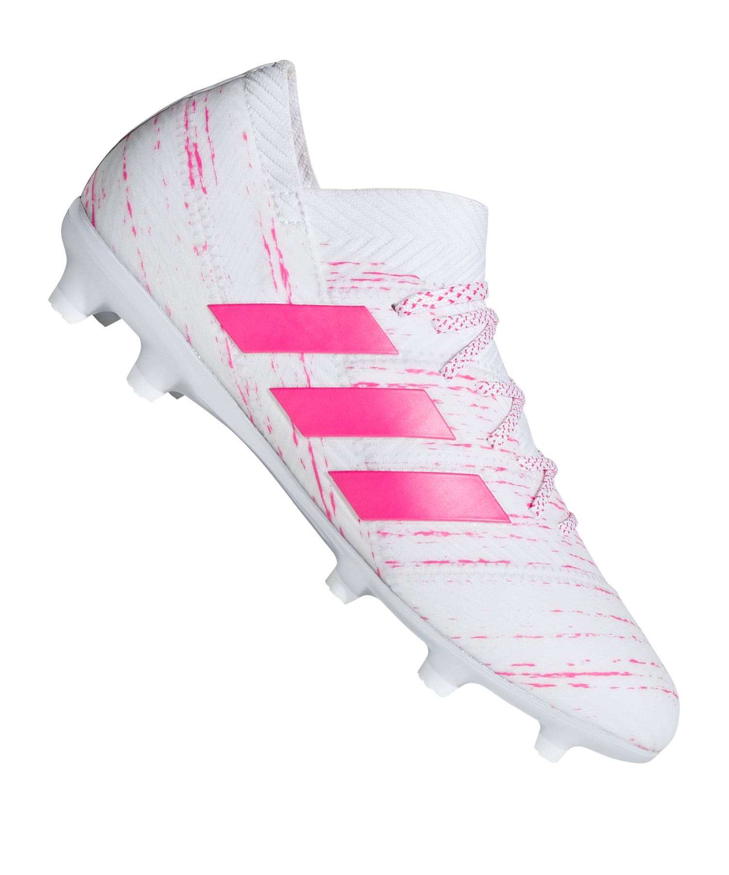 adidas NEMEZIZ 18.1 FG J Kids Weiss Pink - weiss
