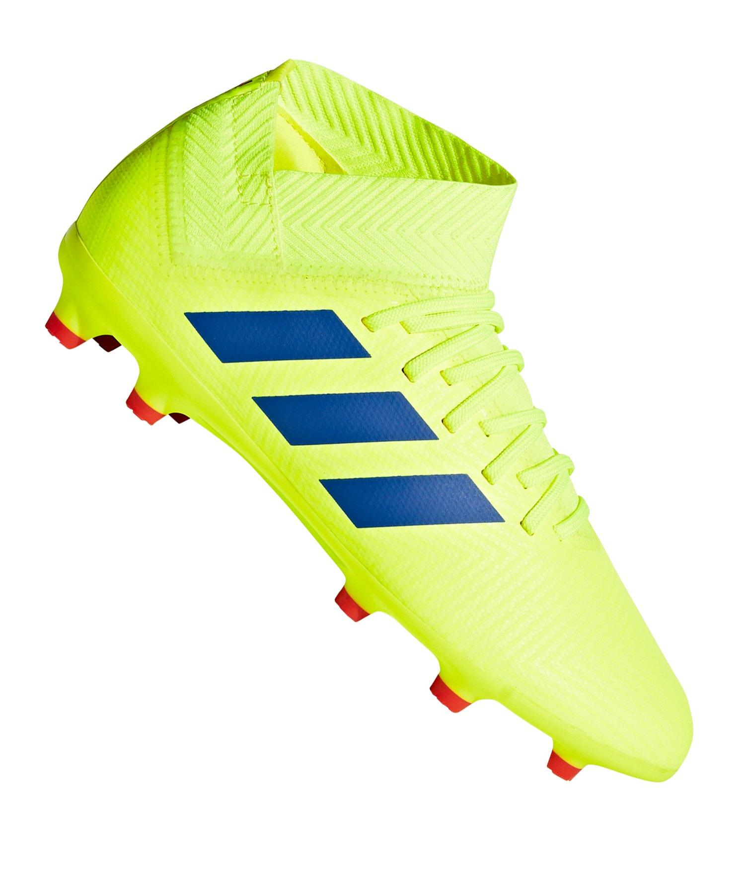 adidas NEMEZIZ 18.3 FG J Kids Gelb Blau - gelb
