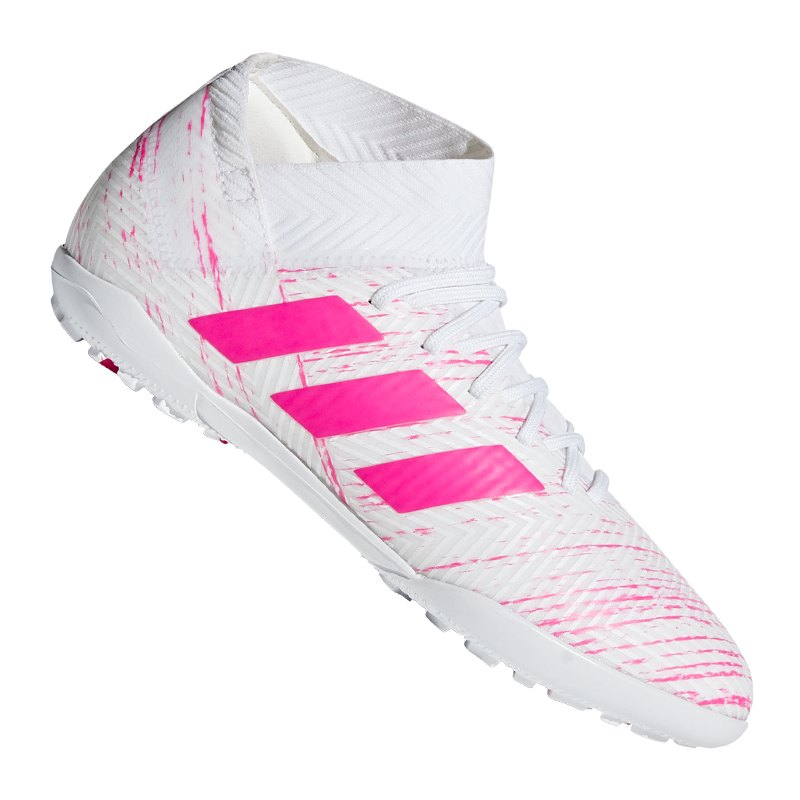 adidas NEMEZIZ 18.3 TF J Kids Weiss Pink - weiss