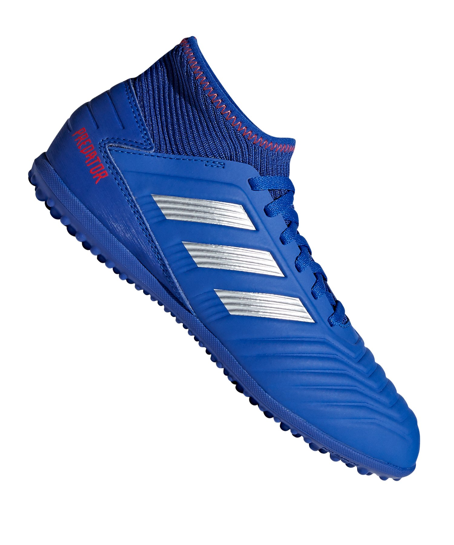 adidas Predator 19.3 TF J Kids Blau Silber - blau
