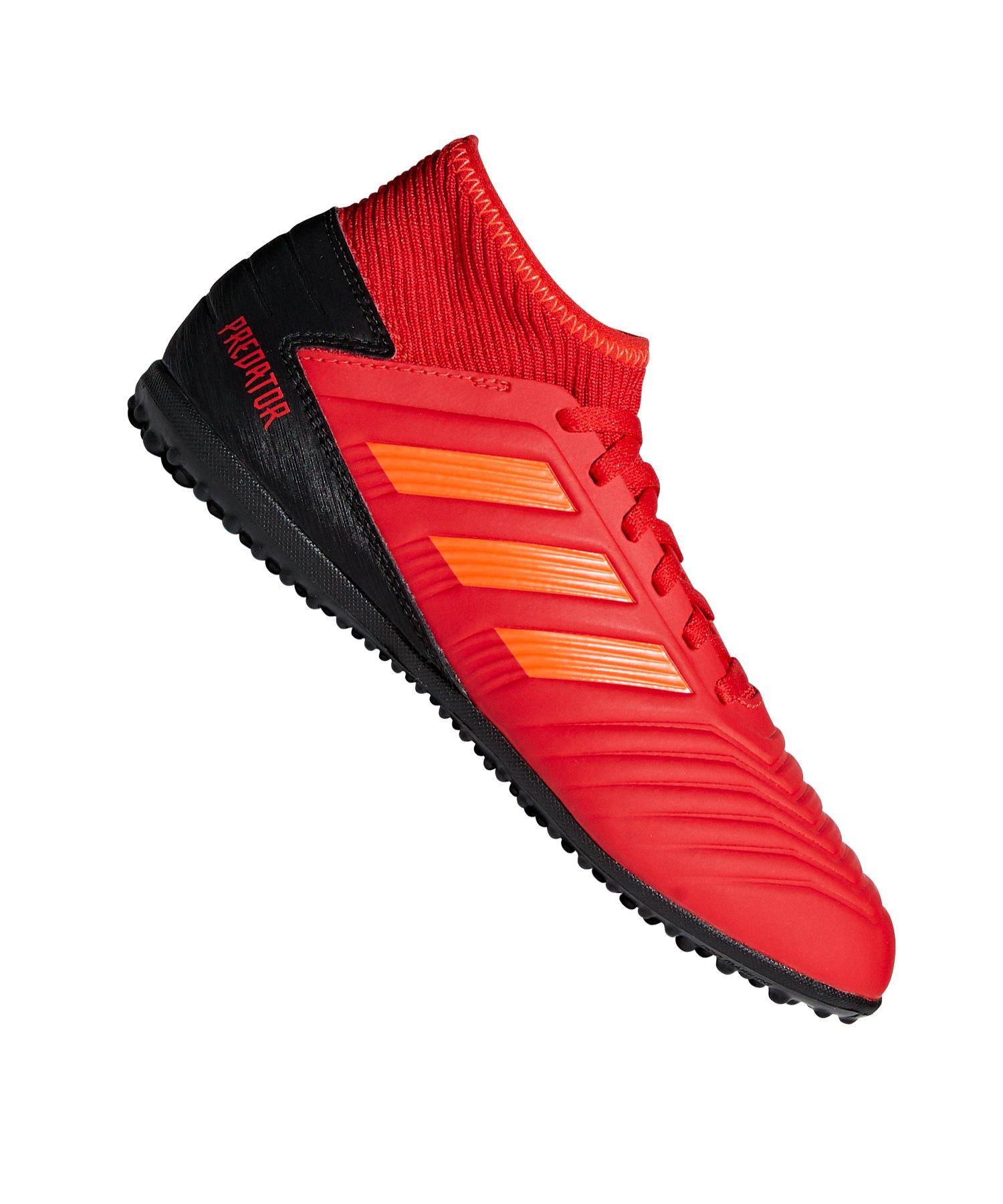 adidas Predator 19.3 TF Kids Rot Schwarz - rot