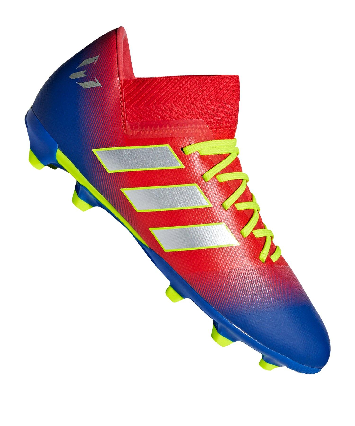 adidas NEMEZIZ Messi 18.3 FG J Kids Rot Blau - rot