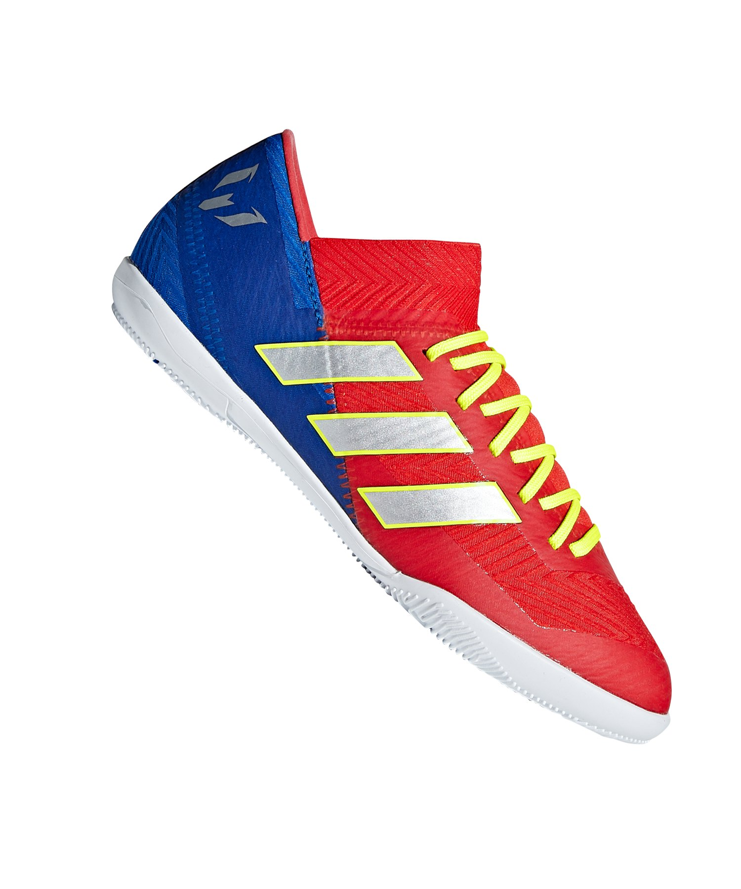 adidas NEMEZIZ Messi 18.3 IN Halle Kids Rot Blau - rot