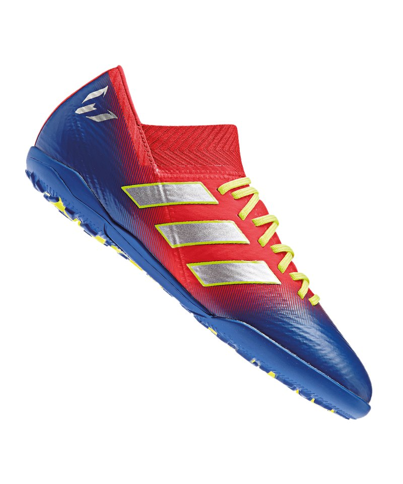 adidas NEMEZIZ Messi 18.3 TF J Kids Rot Blau - rot