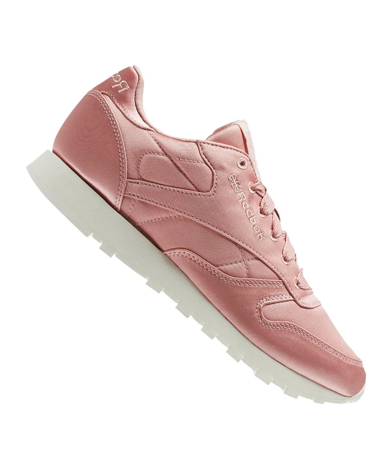 Reebok Classic Leather Satin Sneaker Damen Pink - pink